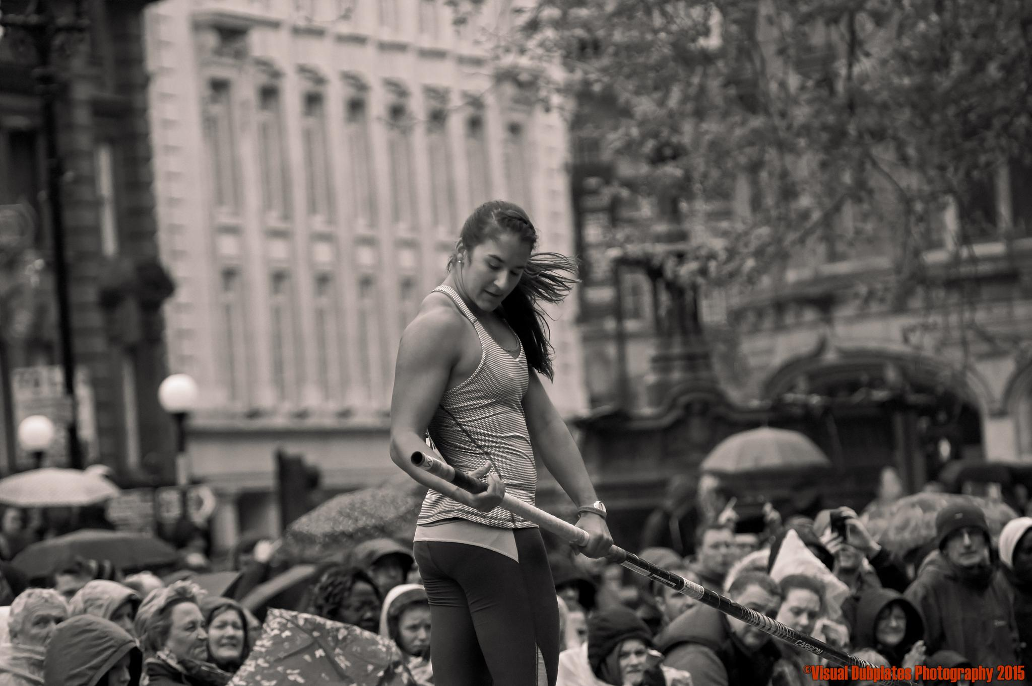 Anticipating the Moment before the High Jump by Visual Dubplates Photography
