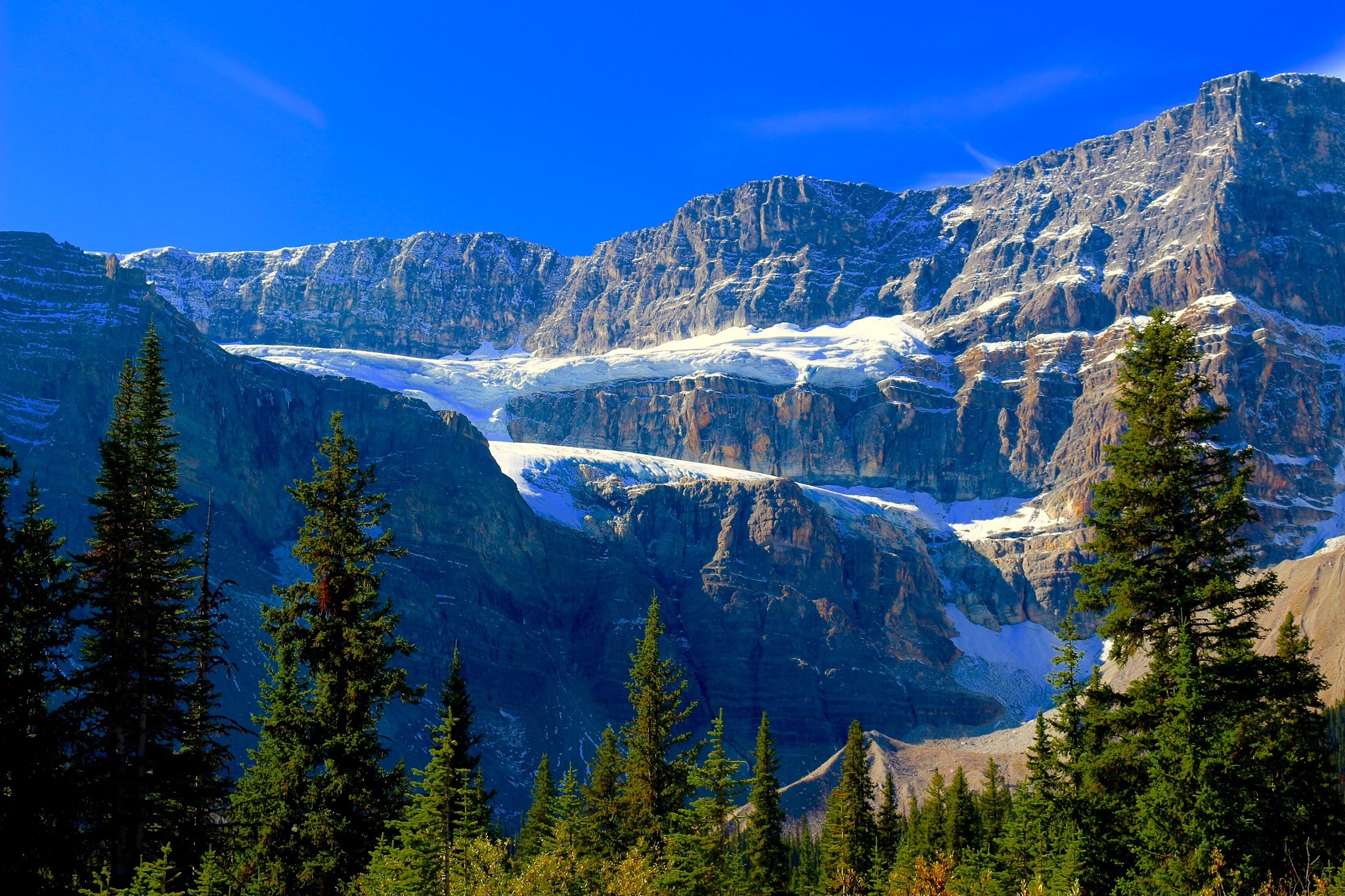 This Time A Colourful Crowfoot Glacier! by 76Spitfire