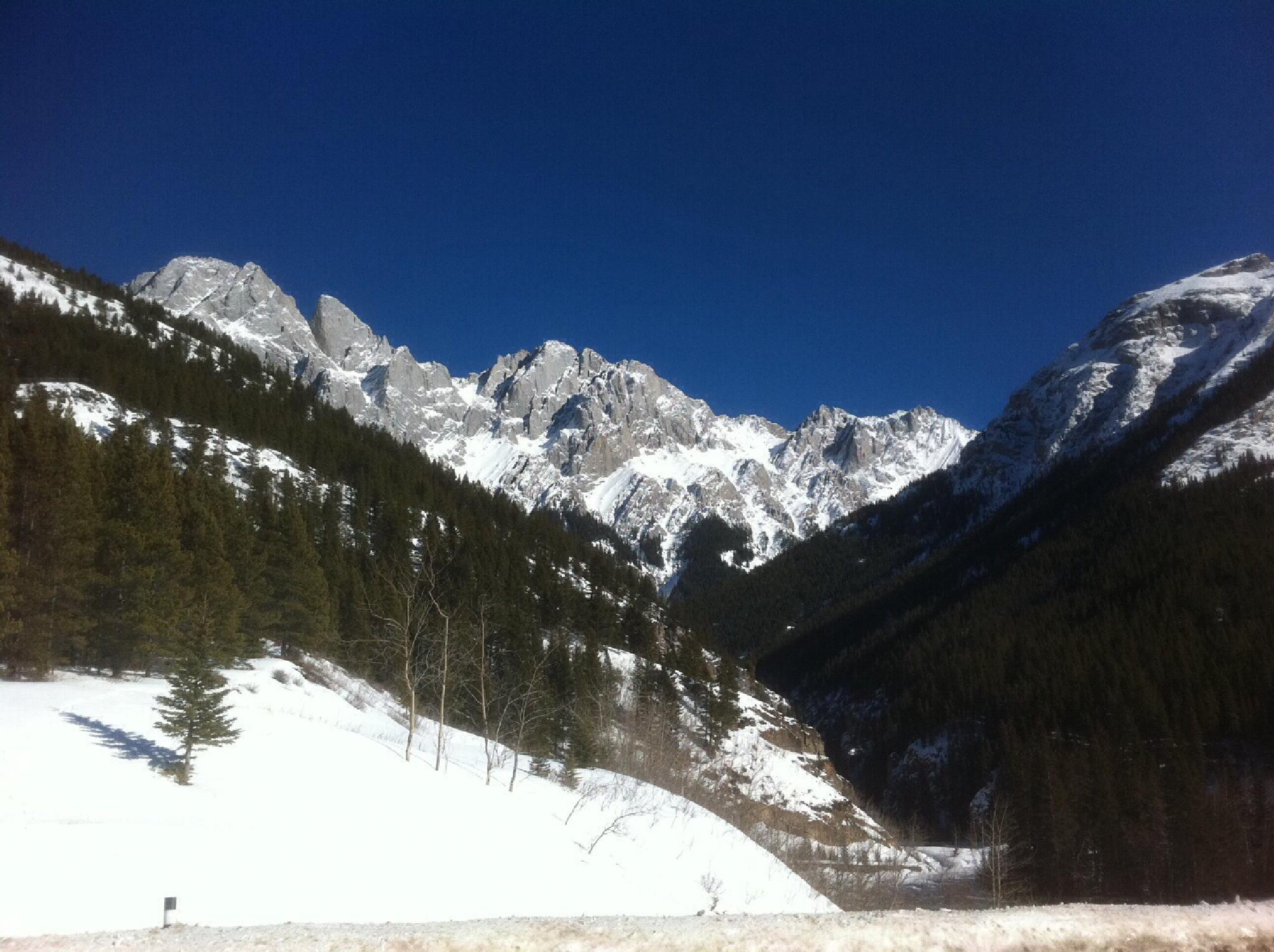 Blue Sky, Winter Mountain by 76Spitfire