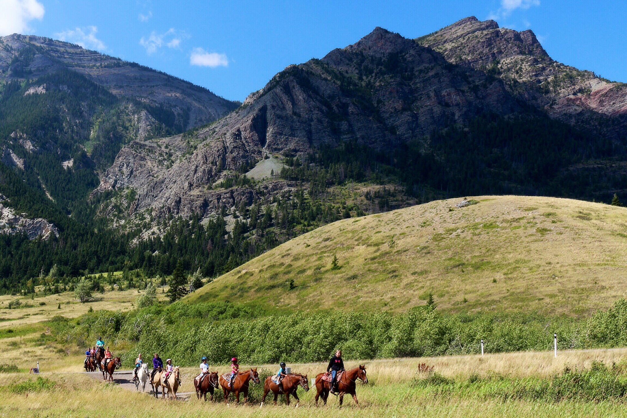 Waterton Lakes' Riders by 76Spitfire