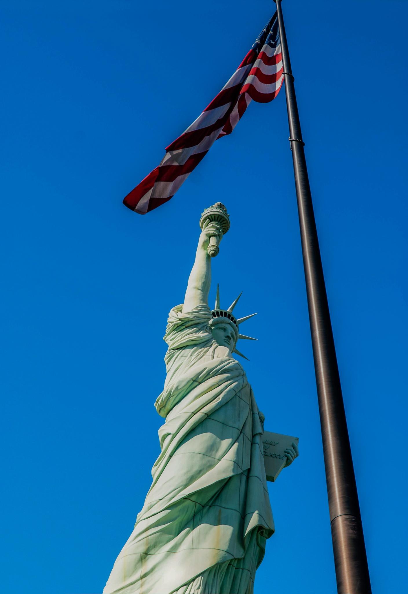 Lady Liberty West by Dealsnphotos