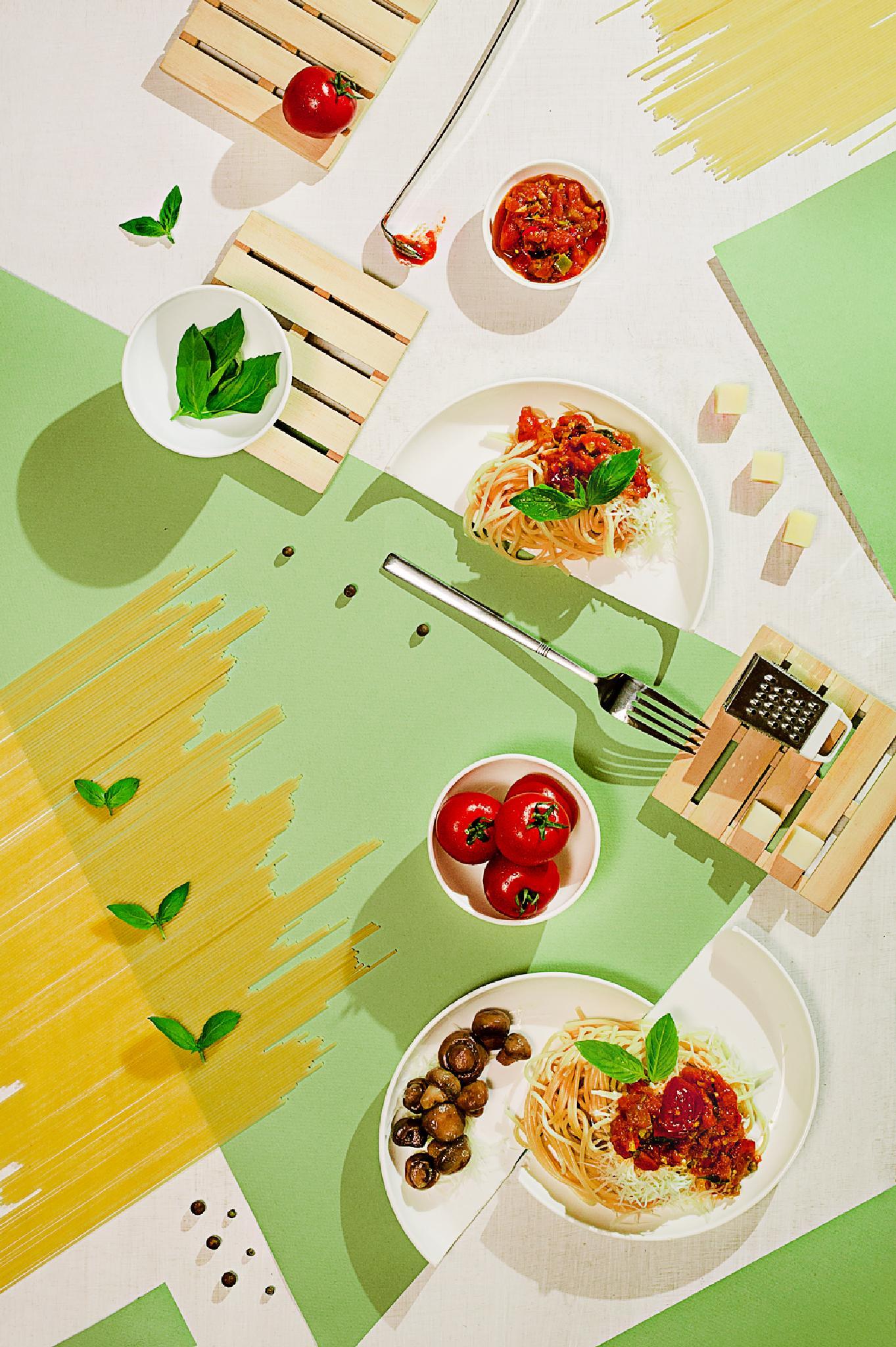 Suprematic meal by Dina Belenko