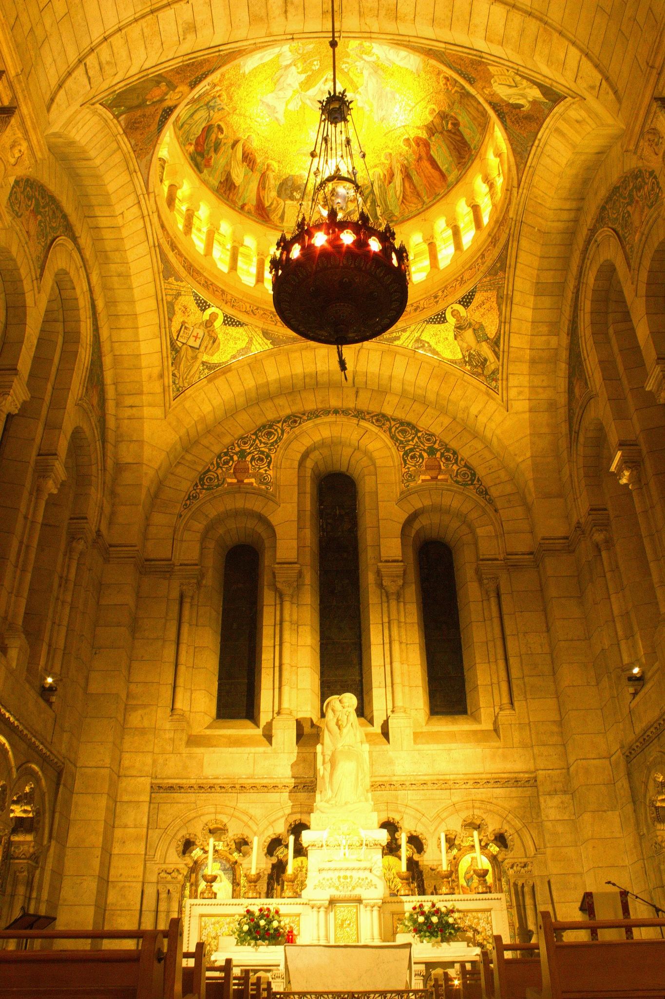 Sacre  Coeur Paris Kirche innen by Freihandfotografie Wuppertal
