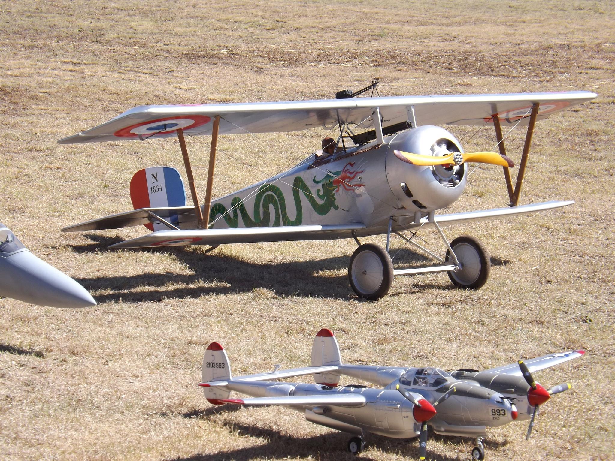 model air planes by Karen Evans