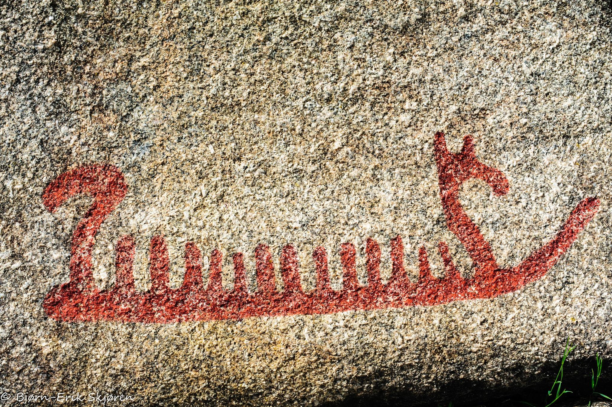 Petroglyph Ship by Bjørn-Erik Skjøren