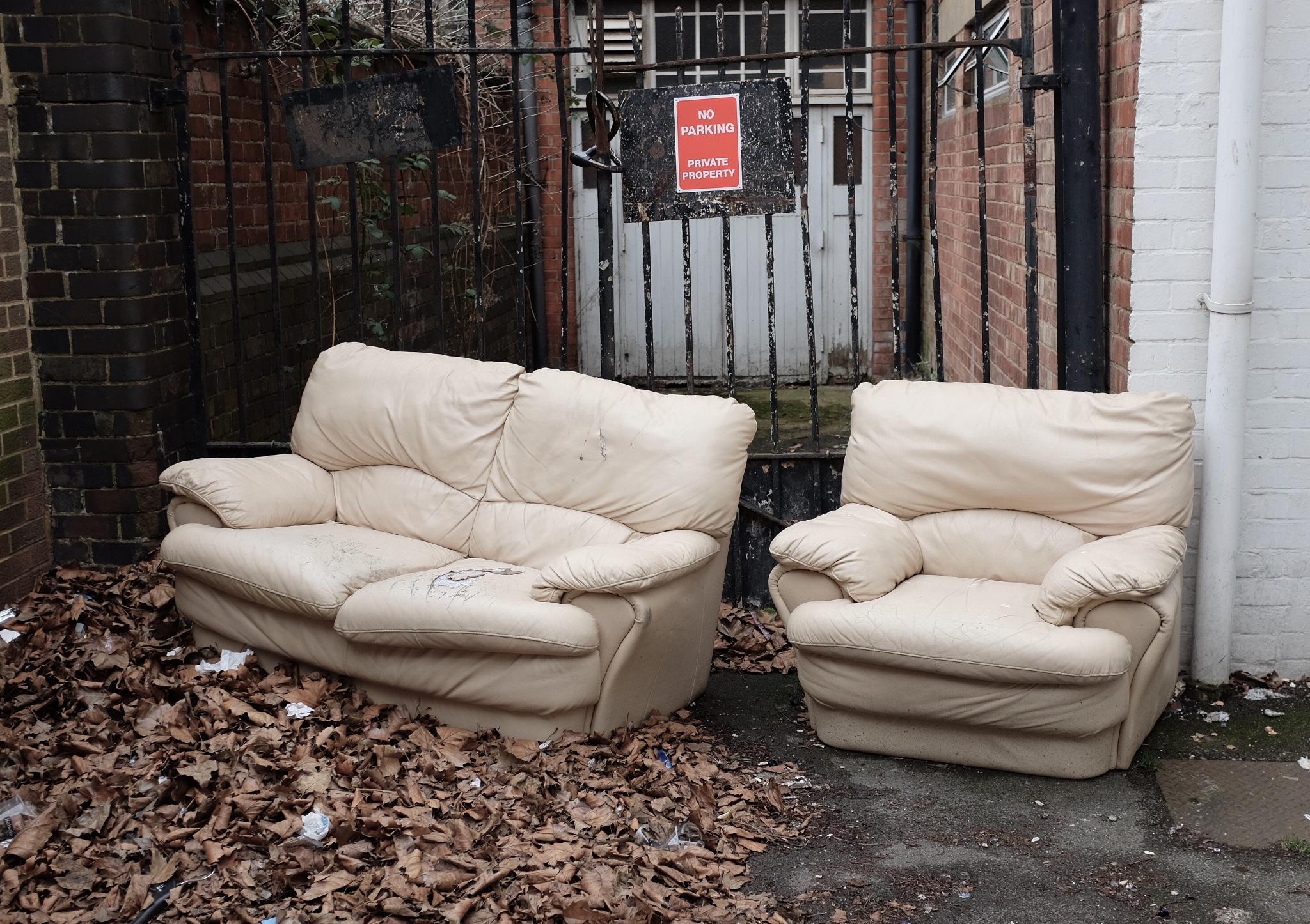 Old Sofas,Gloucester UK by Jim Darke