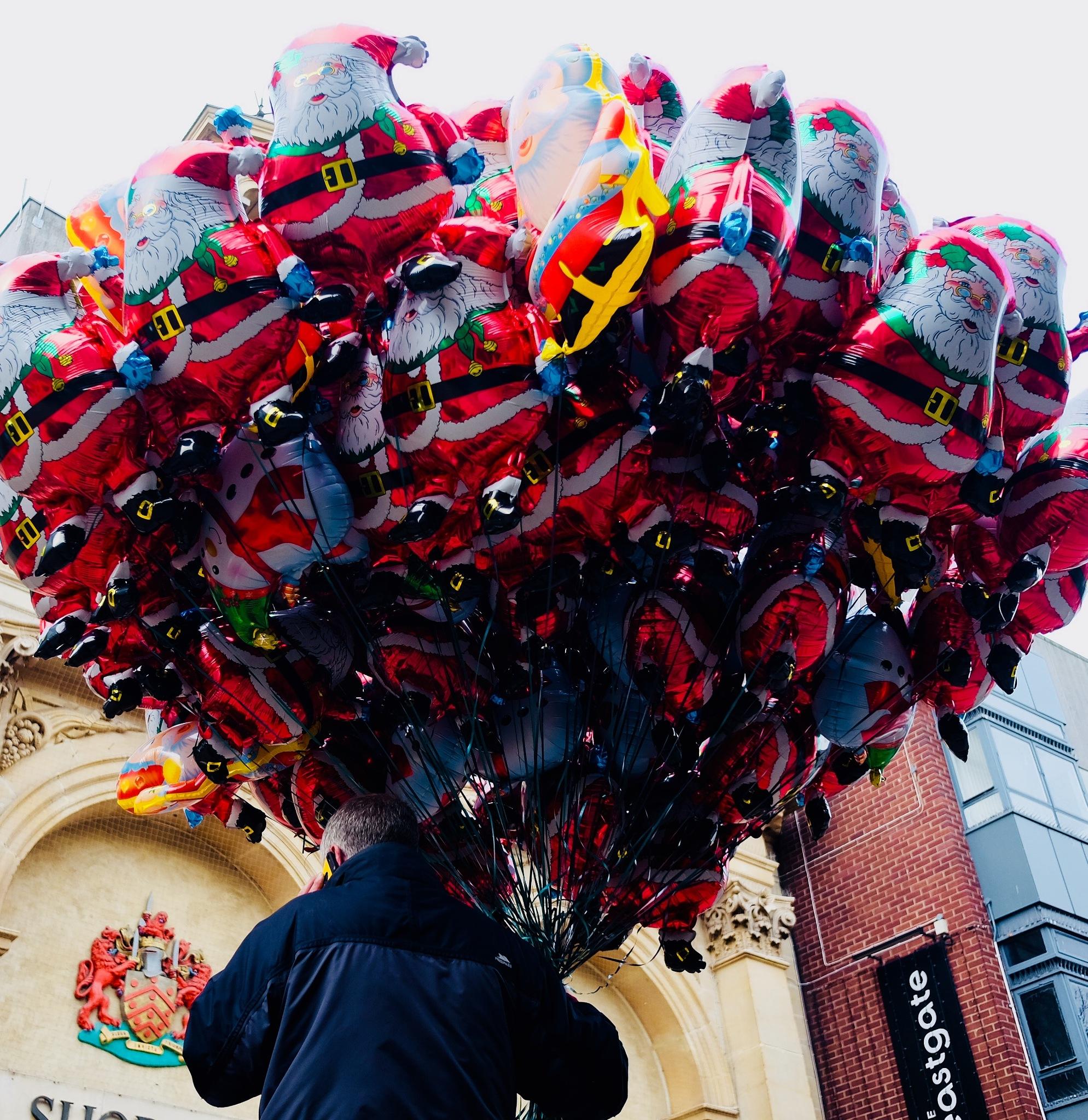 Balloon seller,Gloucester UK by Jim Darke