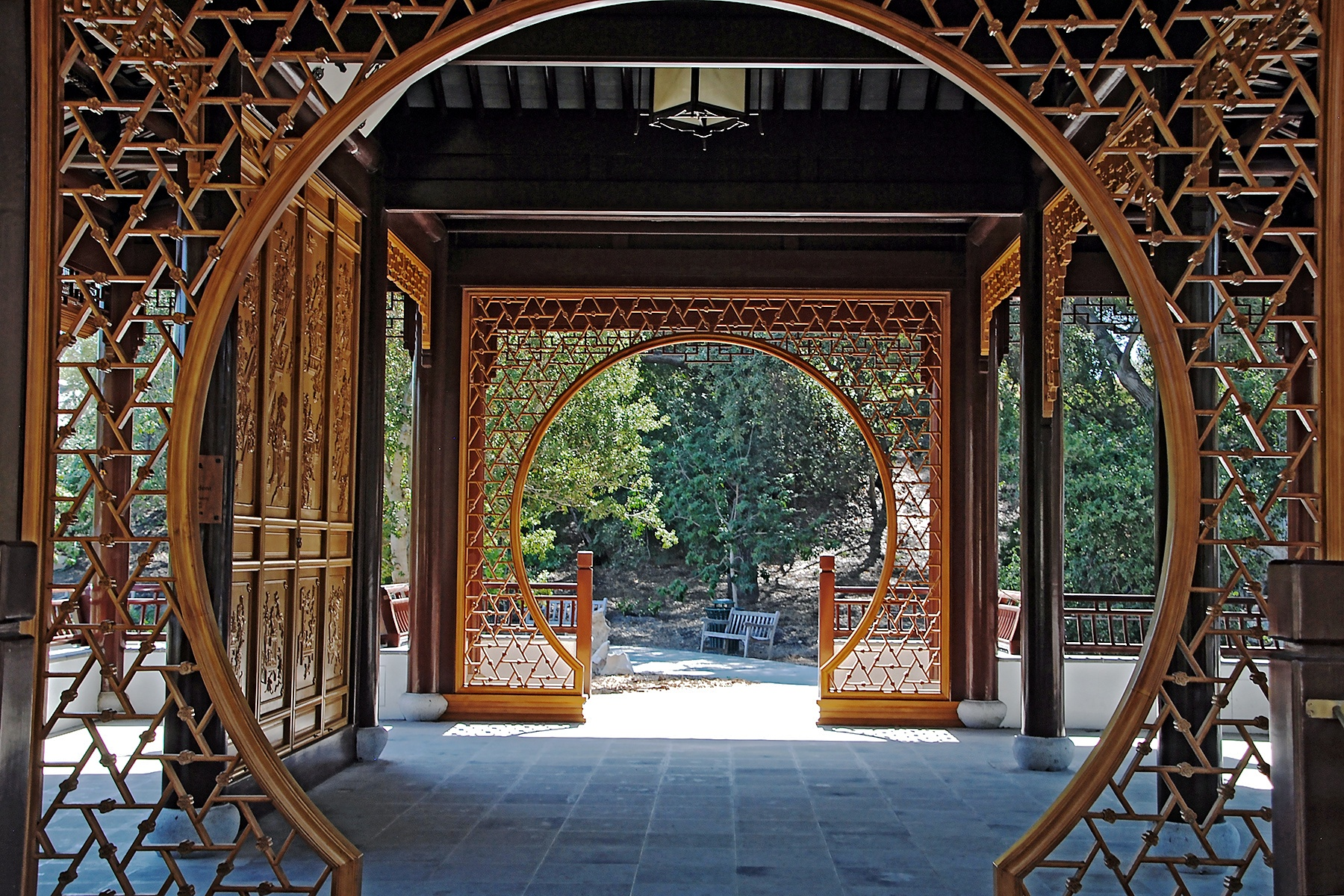 Photo in Architecture #architecture #archway #circular archway #courtyard #chinese architecture