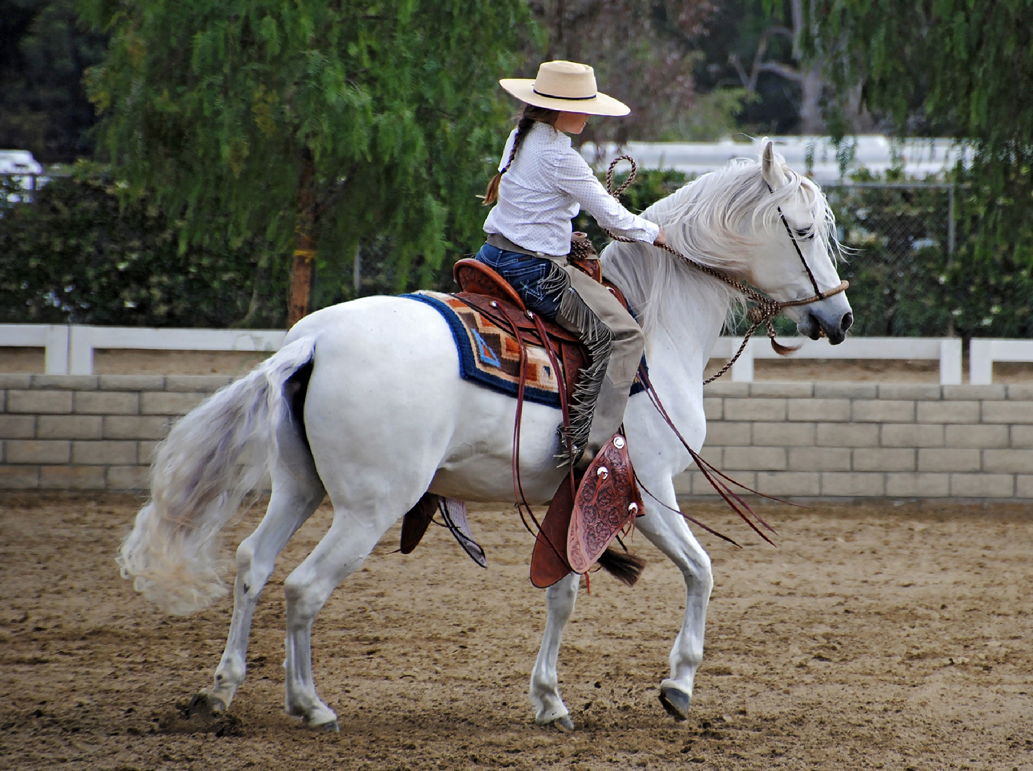 Woman Western Rider by Lormet-Images
