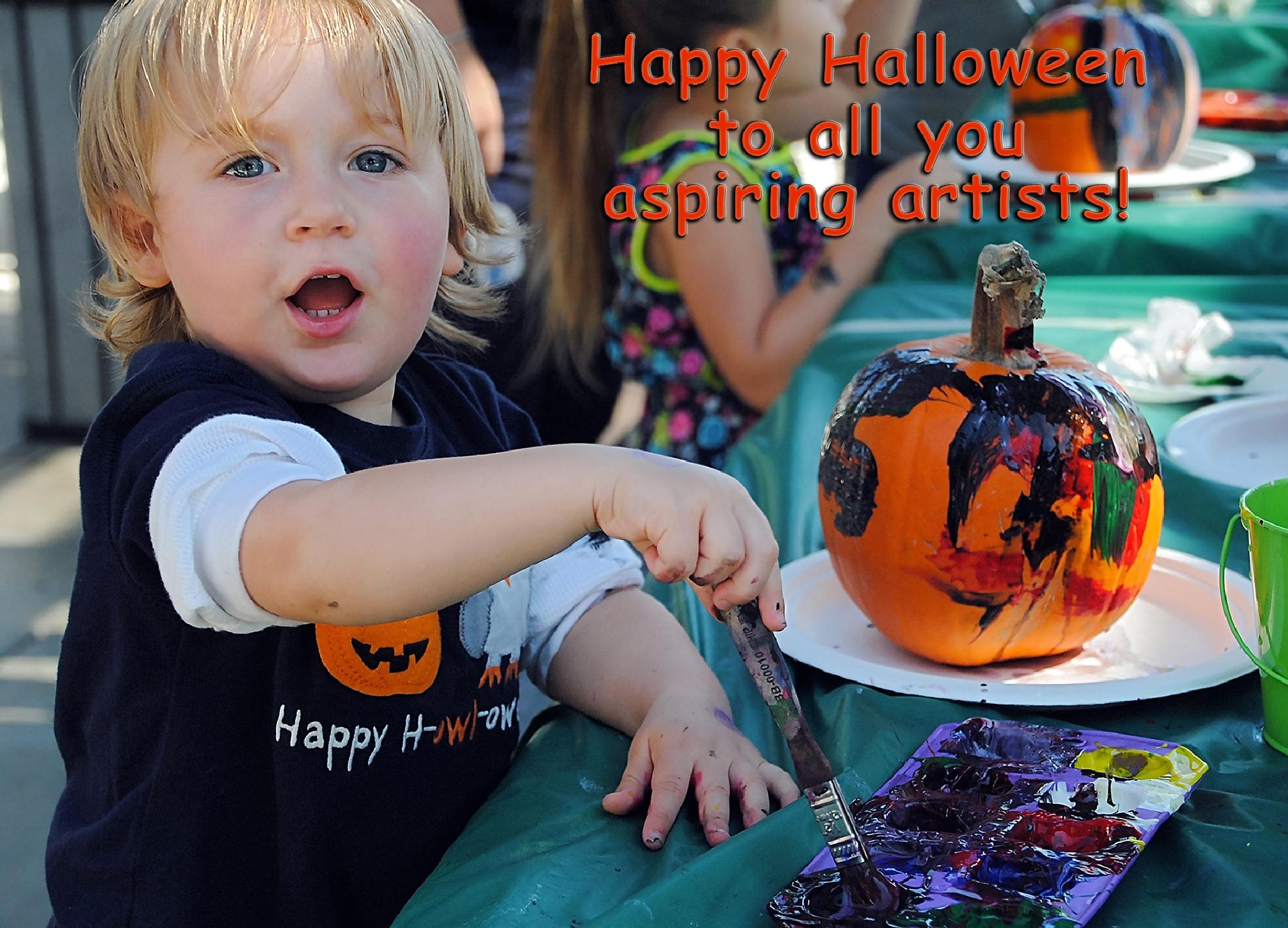 Little Halloween Artist by Lormet-Images