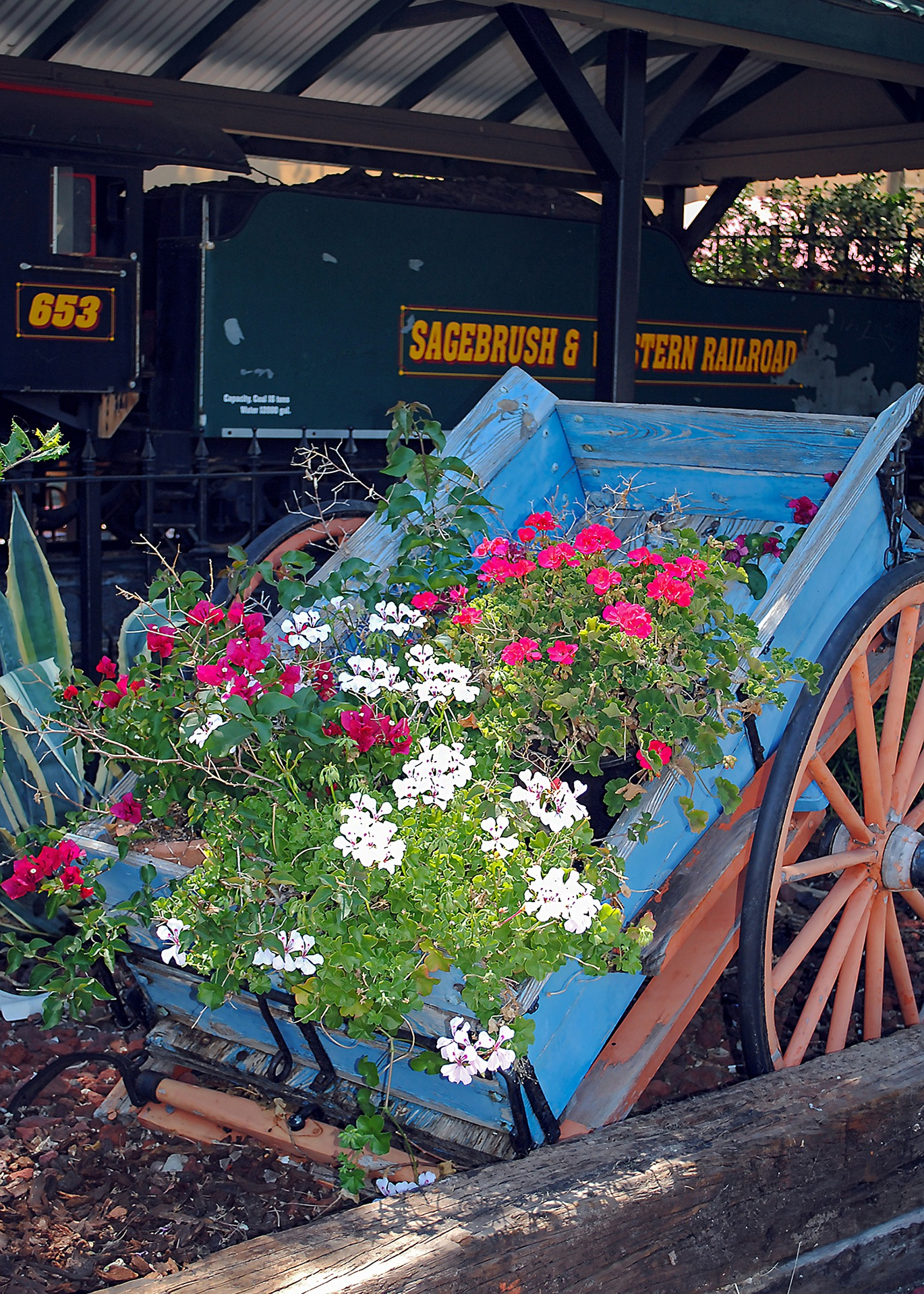 Flower Cart by Lormet-Images