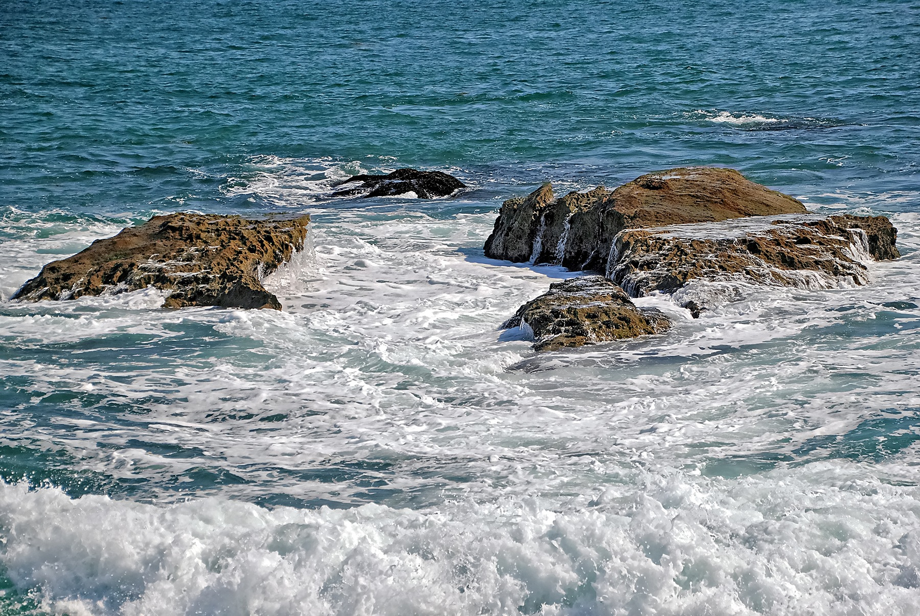 Rocks Among The Surf by Lormet-Images