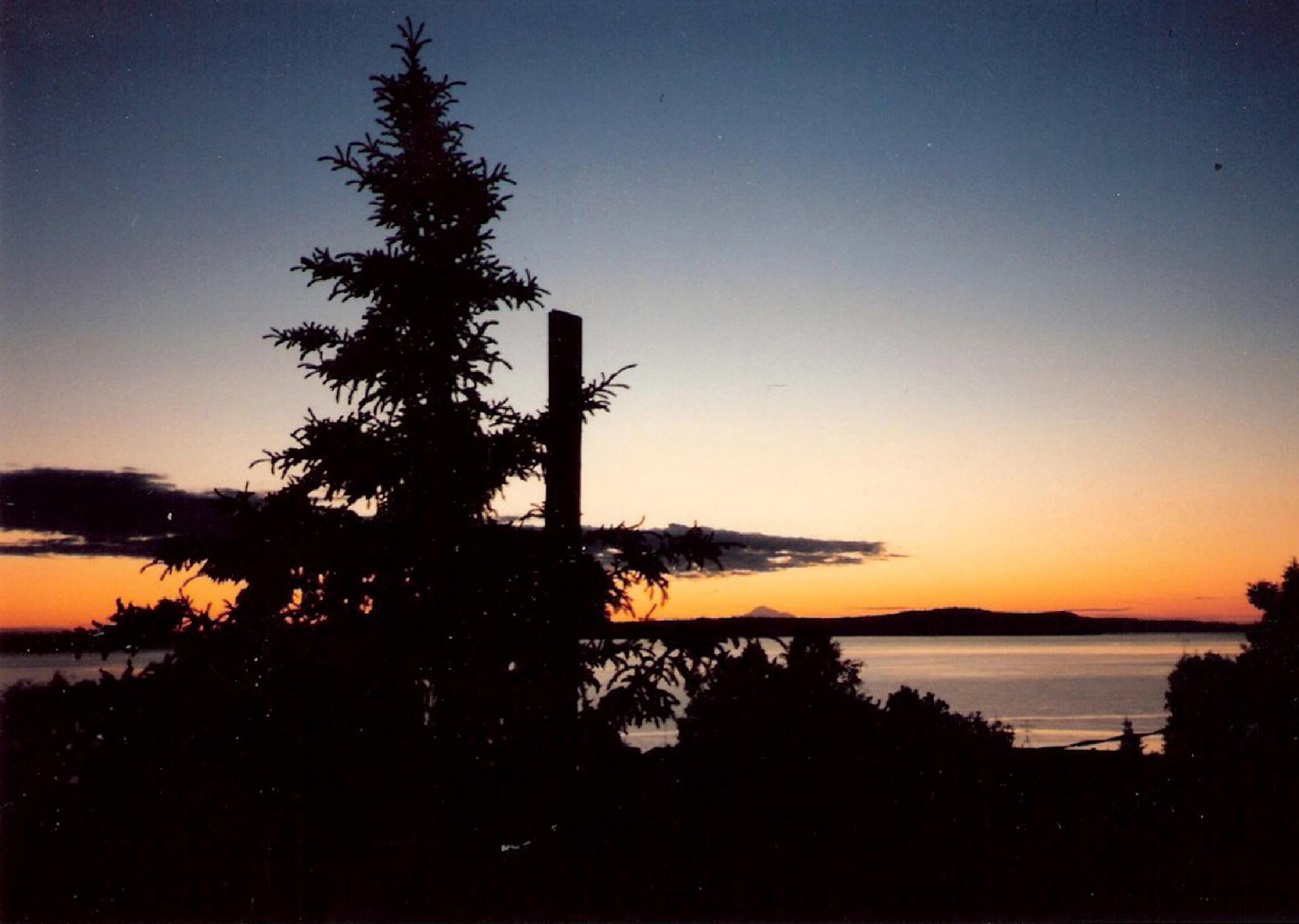 VIEW OF LITTLE SUSITNA FROM BOOTLEGGERS COVE, ANCHORAGE by MarilynGraham