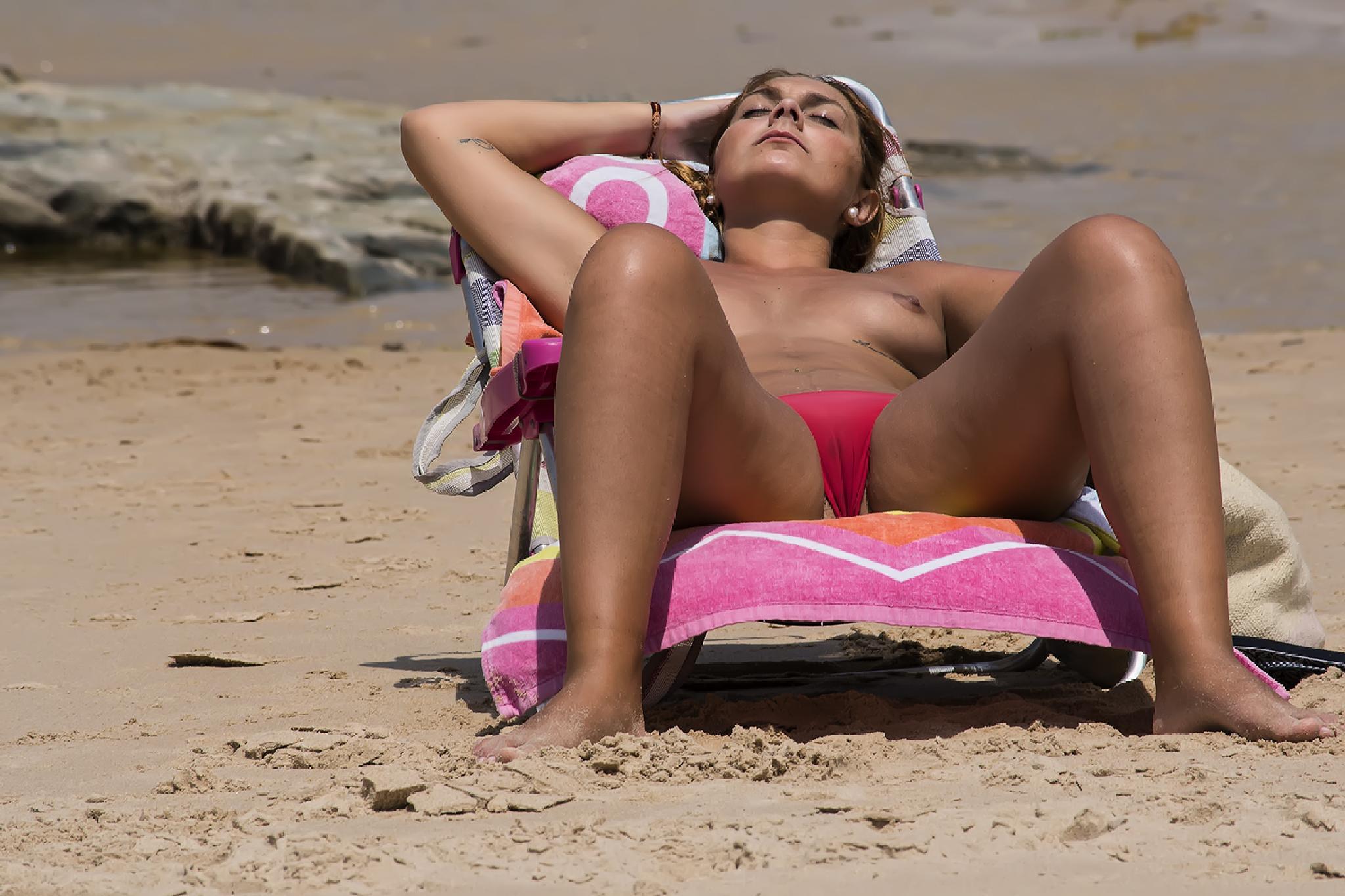 on the beach by Massimo Zanderin