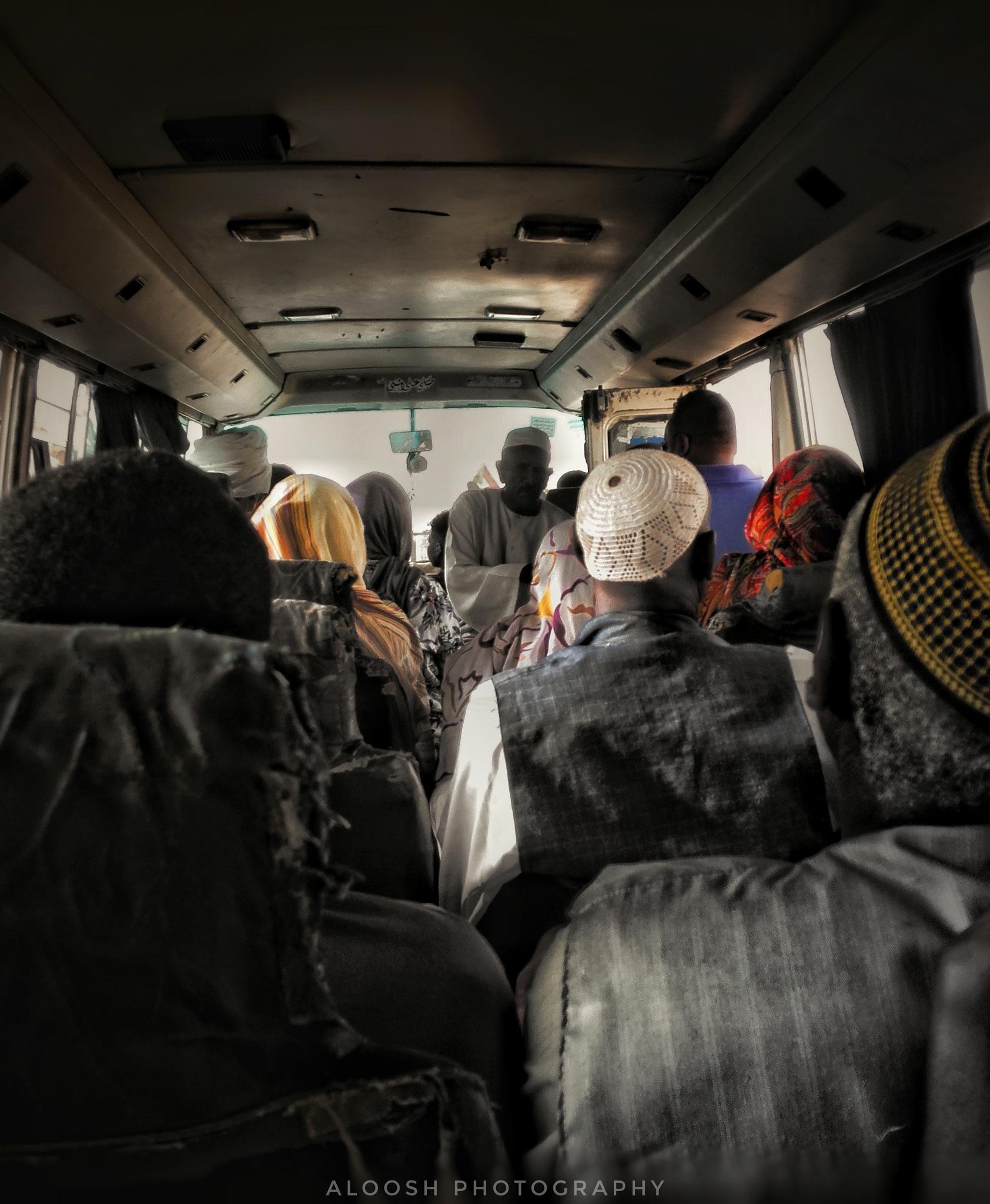 Inside bus in Khartoum city by Ali Senged