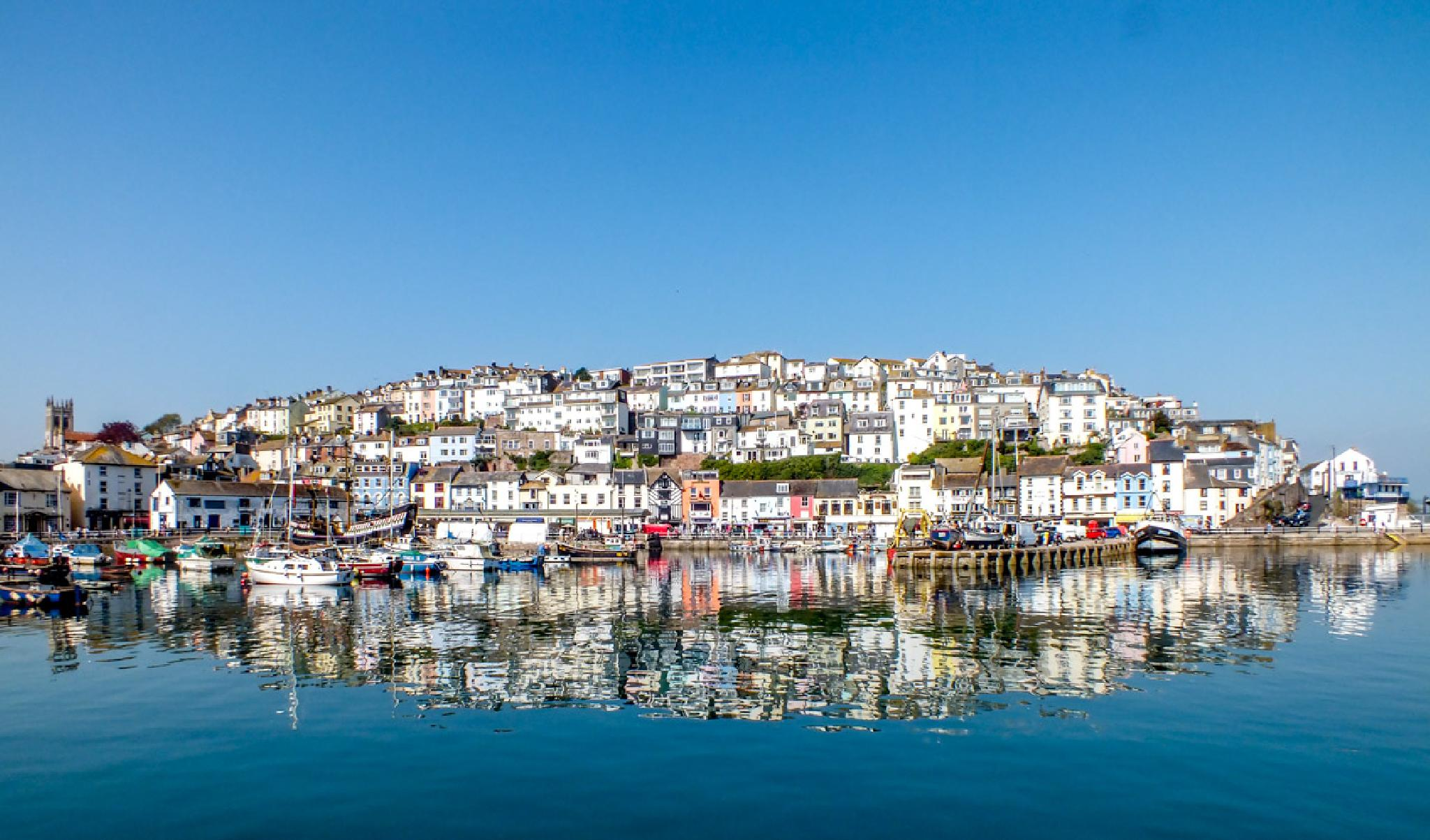 Brixham Devon UK in the sunshine by MarkBriscoe