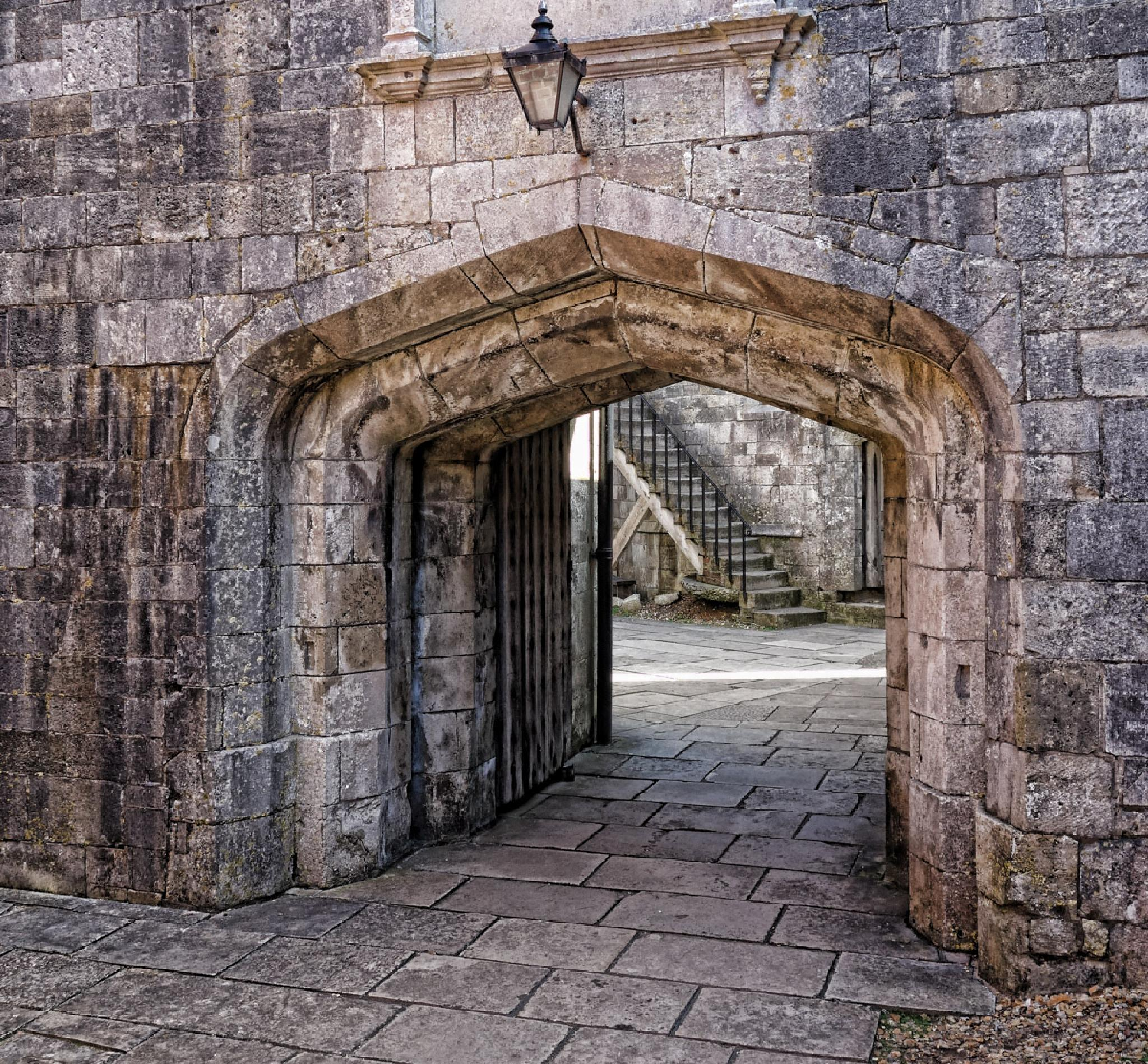 Arch to the steps by MarkBriscoe