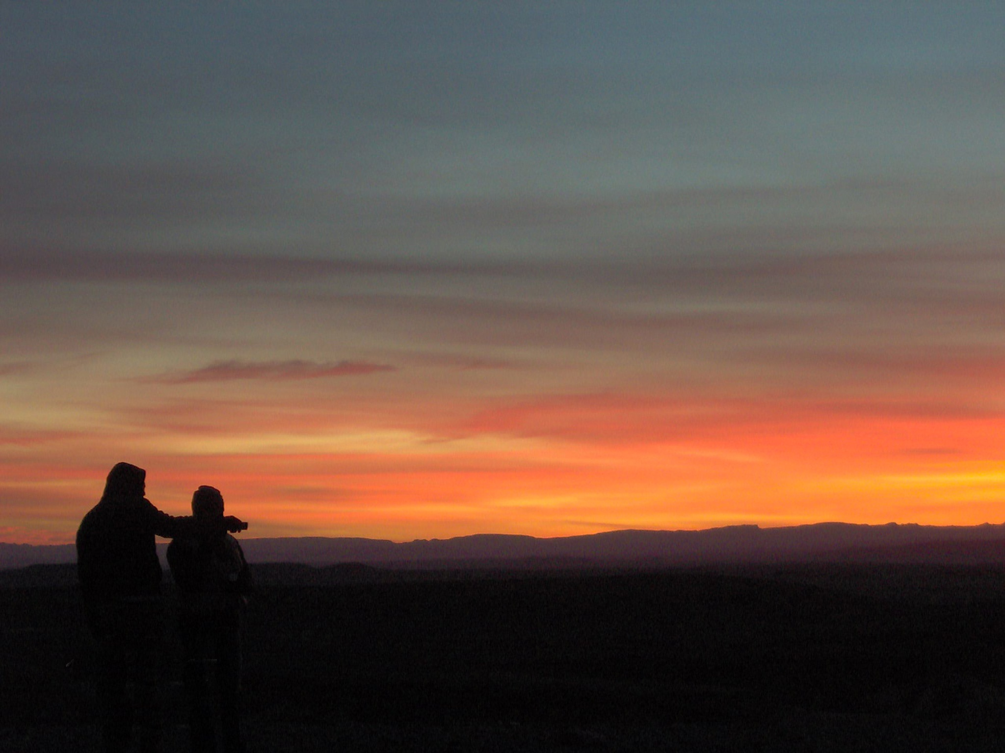 Couple at sunset by Fouad Benallal
