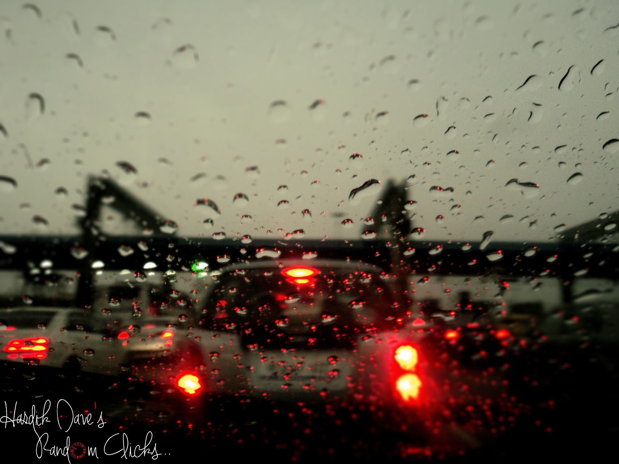 Rain Drops by Hardik Dave