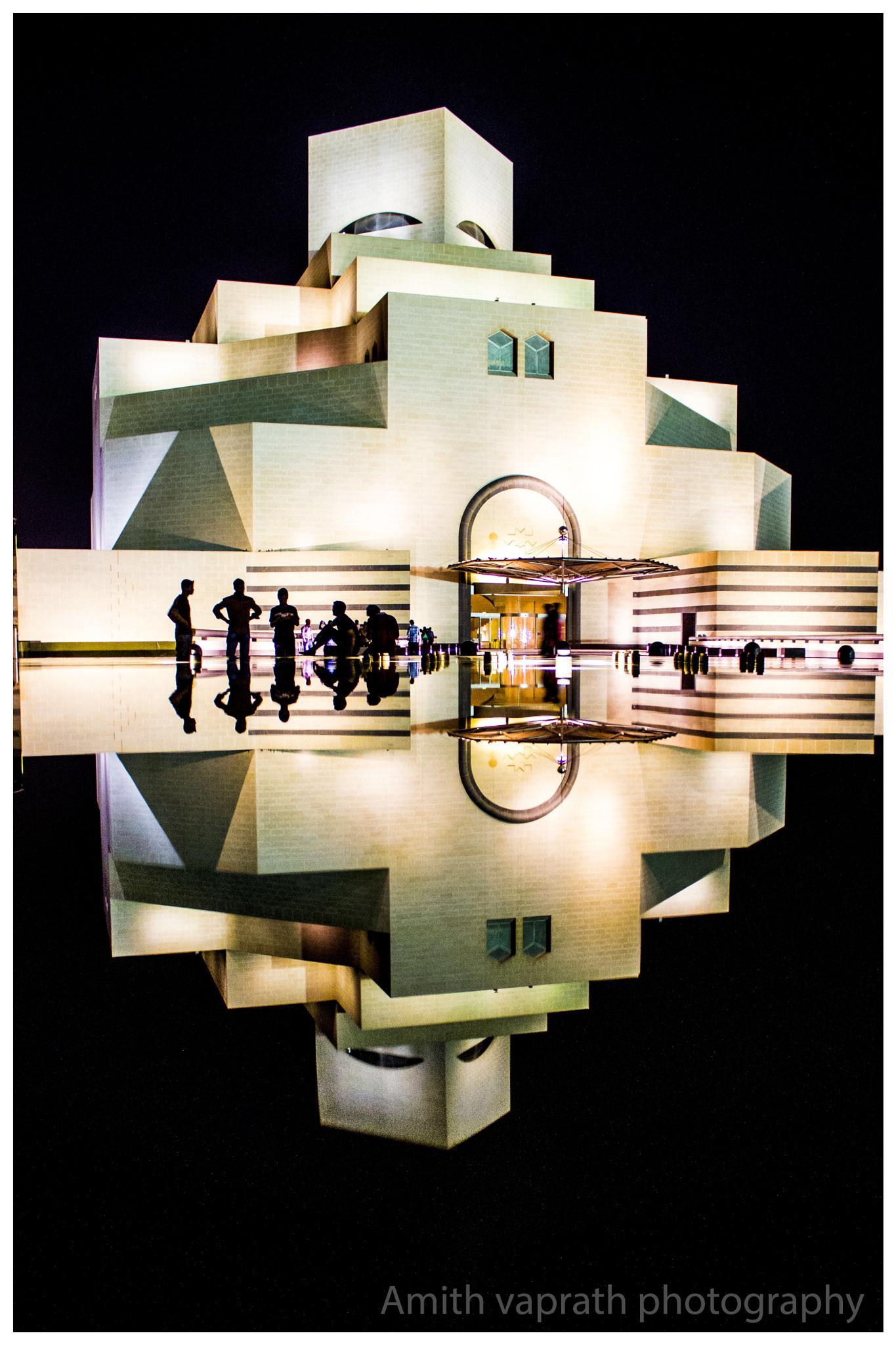 Qatar museum reflection  by Amith Vaprath
