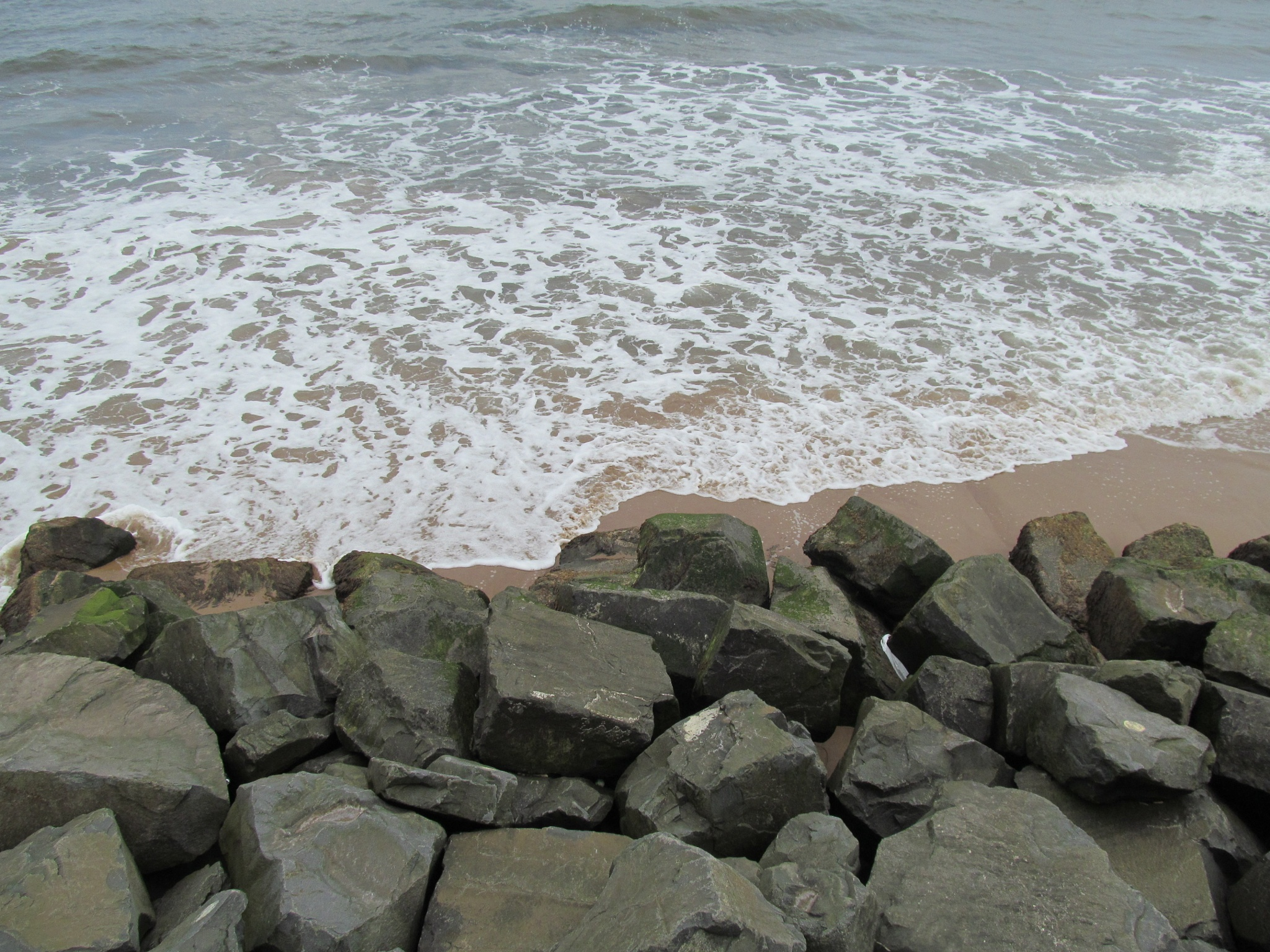 Rocks & sea by joan croll