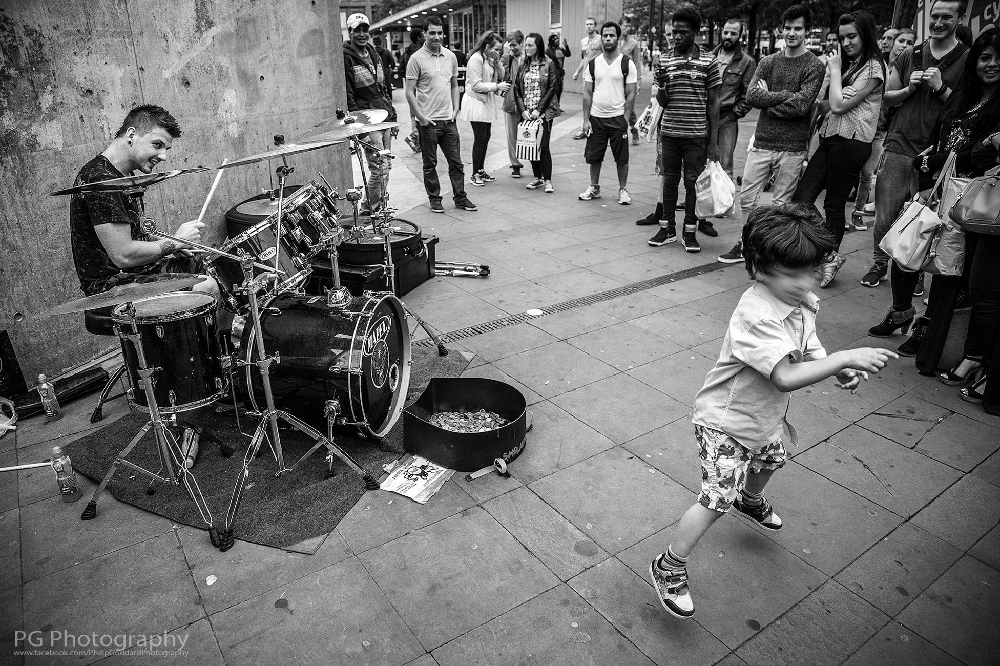 Manchester Drummer by philipandrewgoddard