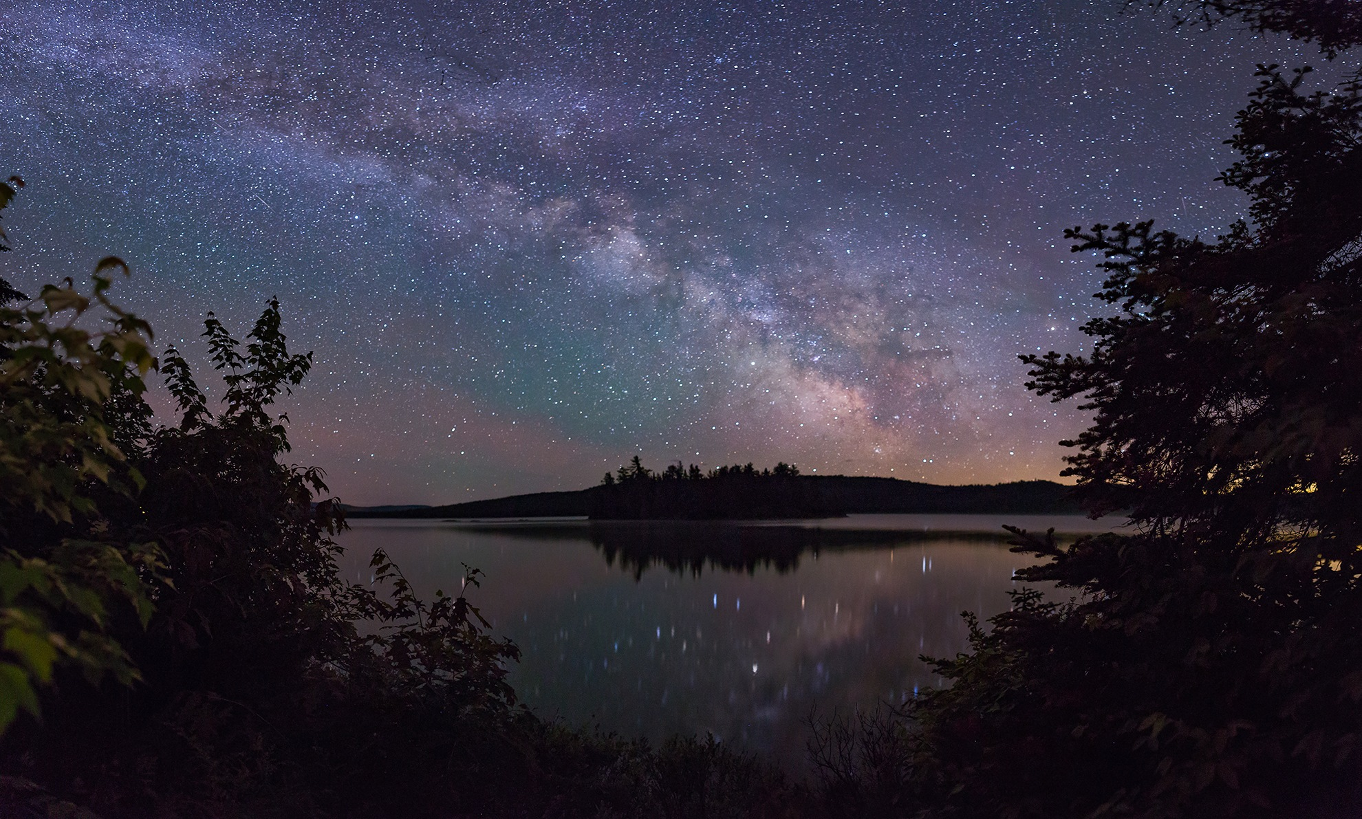 The Island and the Milky Way by Steve Dunsford