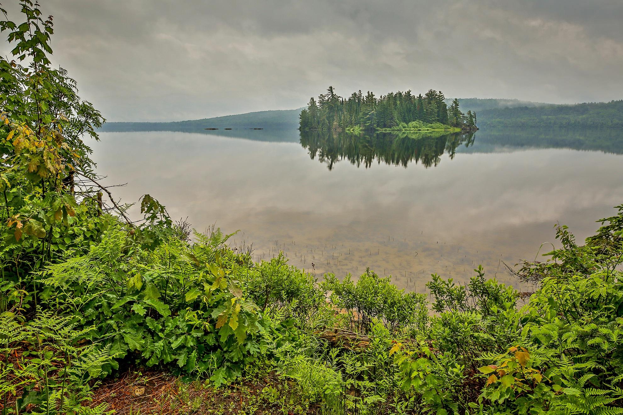 Misty Morning Island by Steve Dunsford