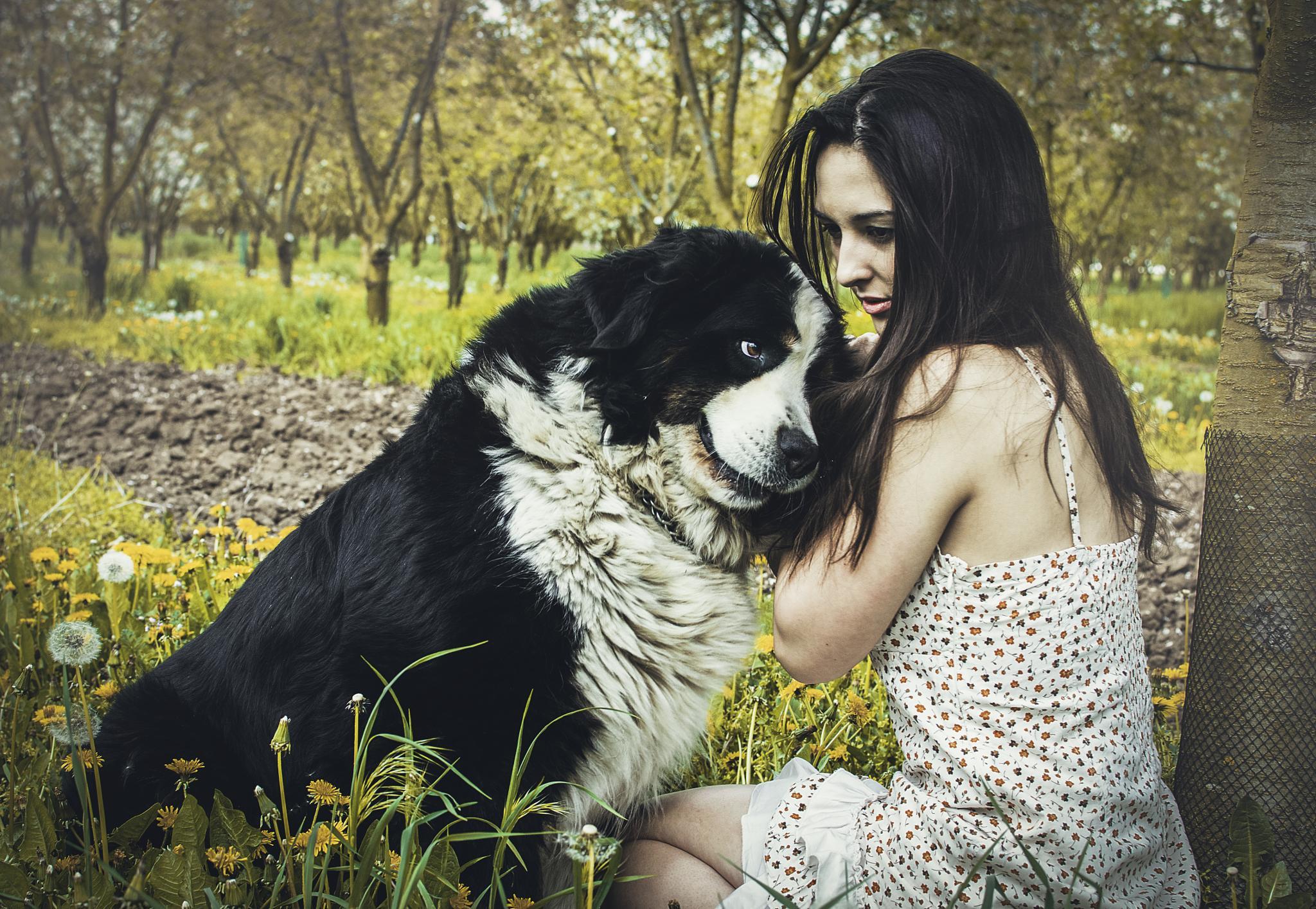 Kate and dog by Jakub Doupovec