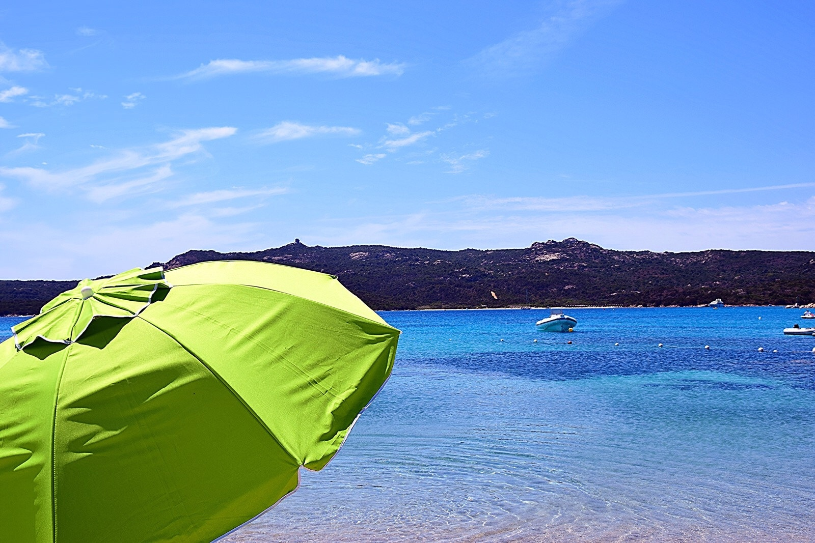 Summer on a solitary beach  by Diana
