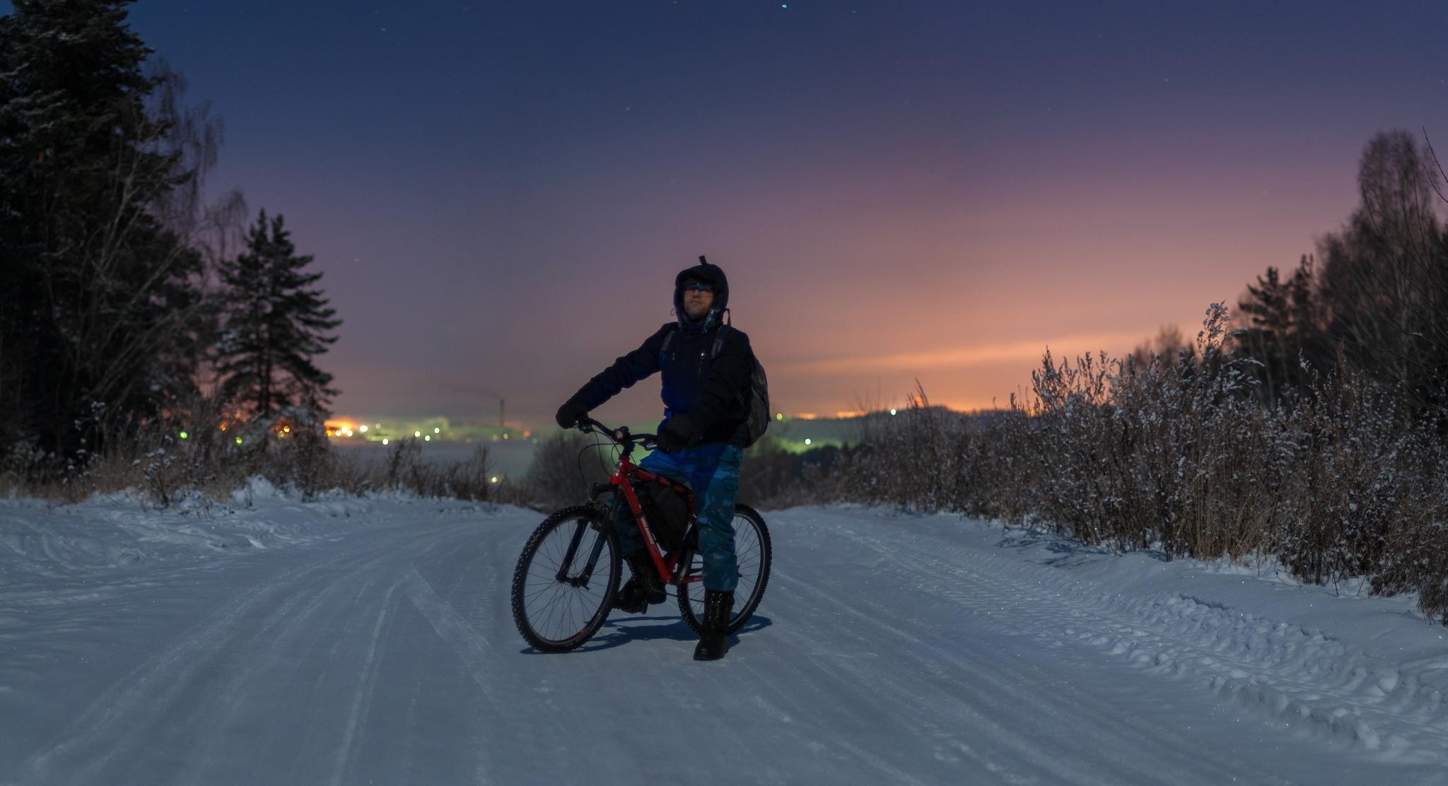 Winter siberian selfie by RedFoxPro