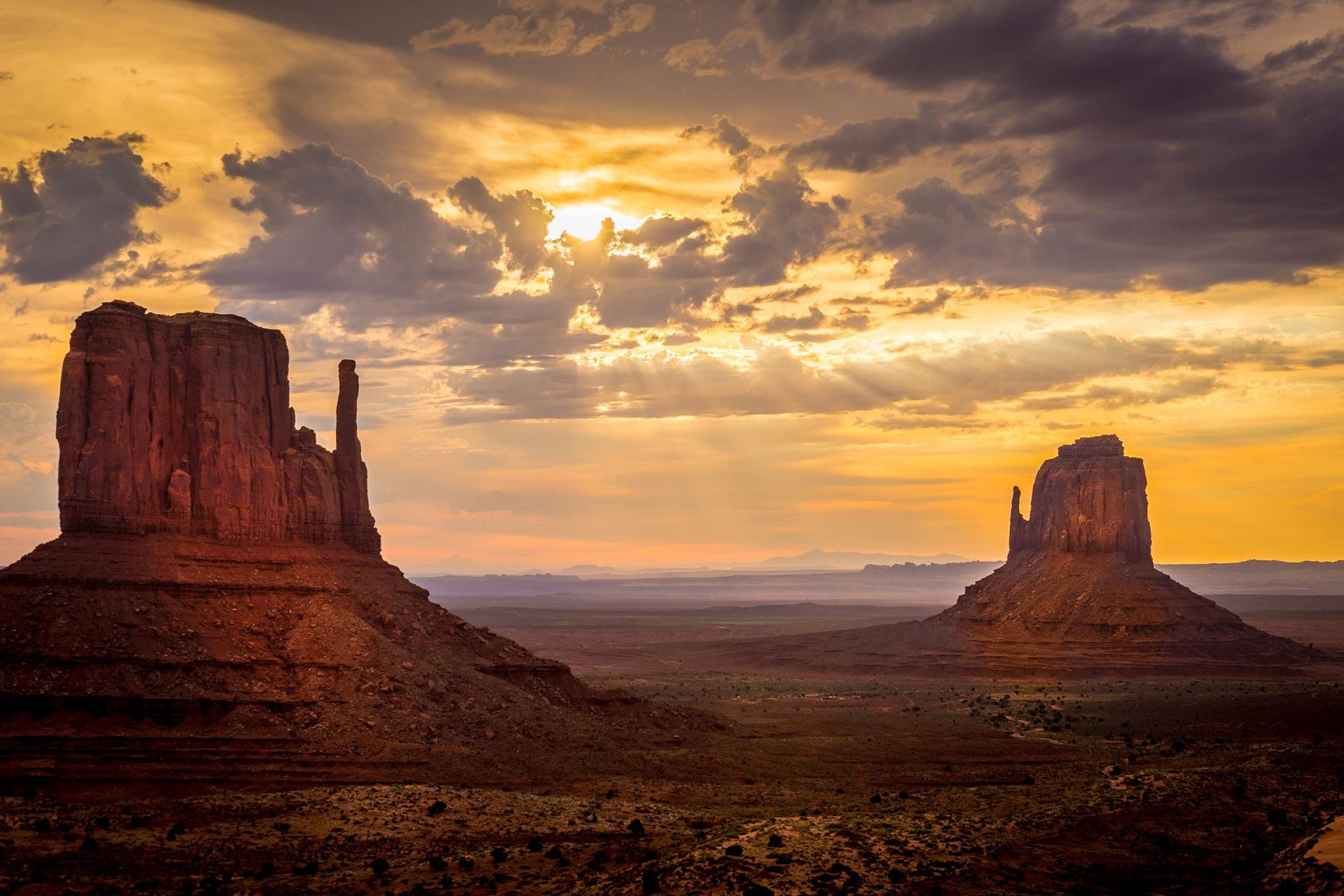 Sunrise Over the Mittens by Curt Wells
