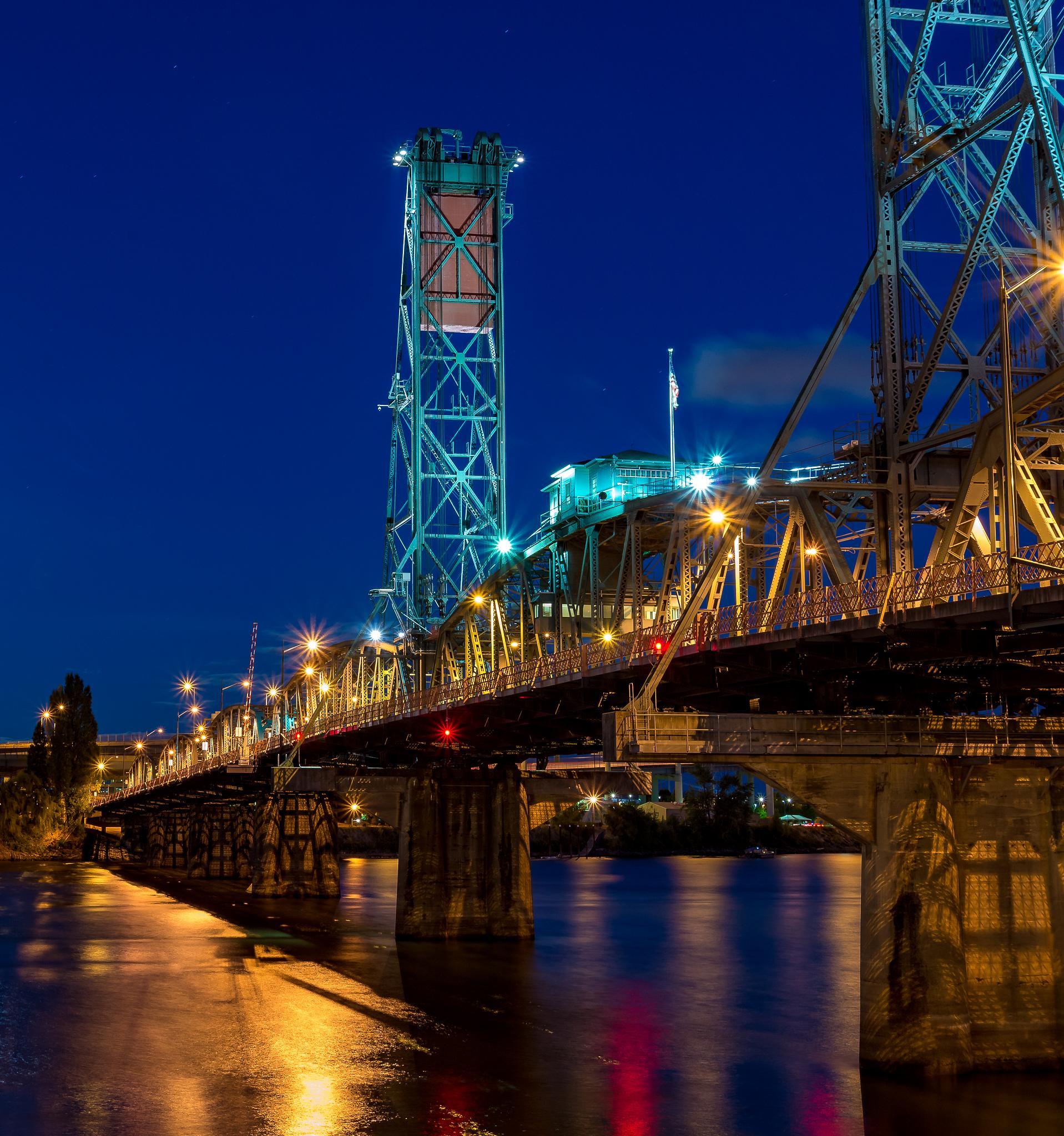 Hawthorne Bridge After Dark by Curt Wells