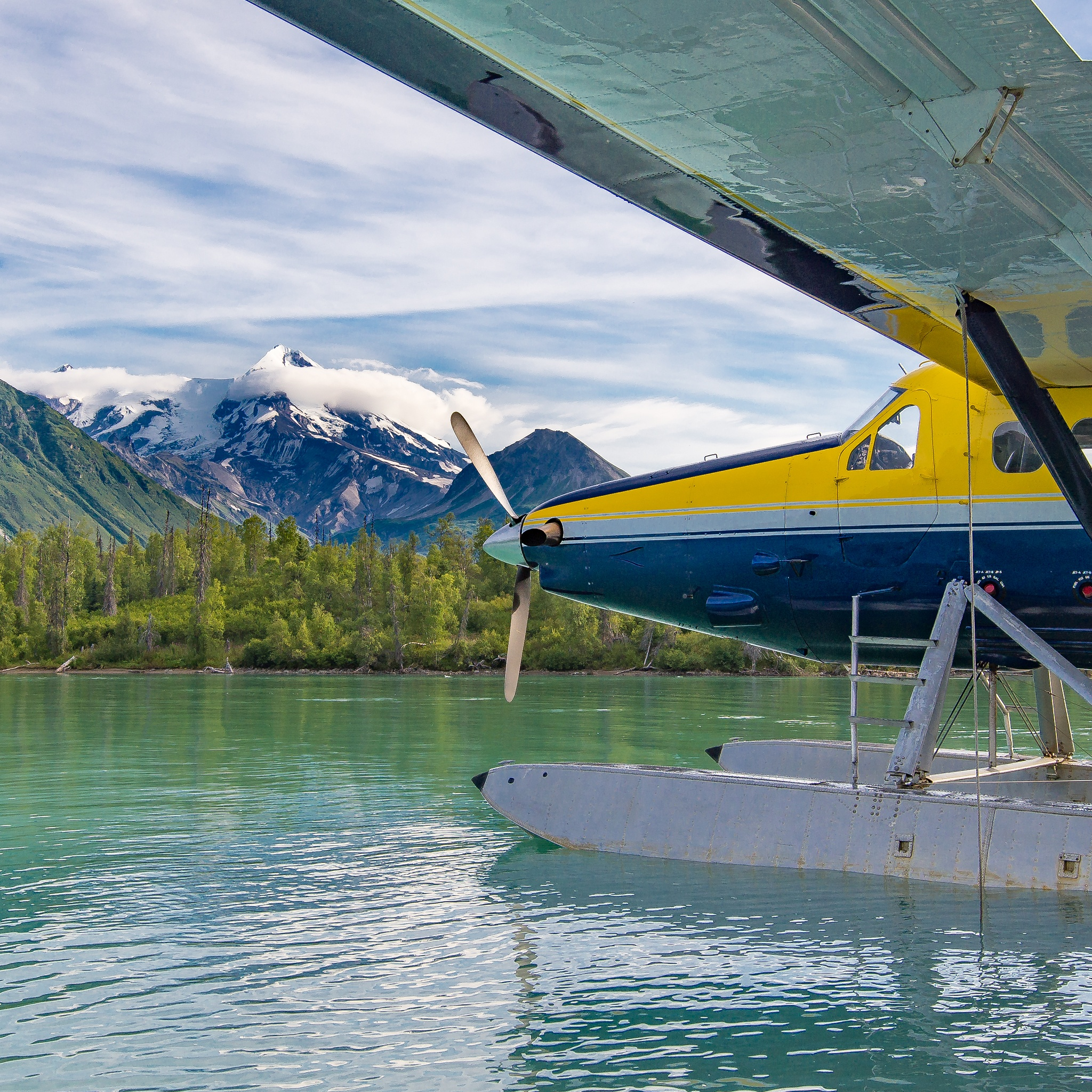 Fly-in Crescent Lake by Curt Wells