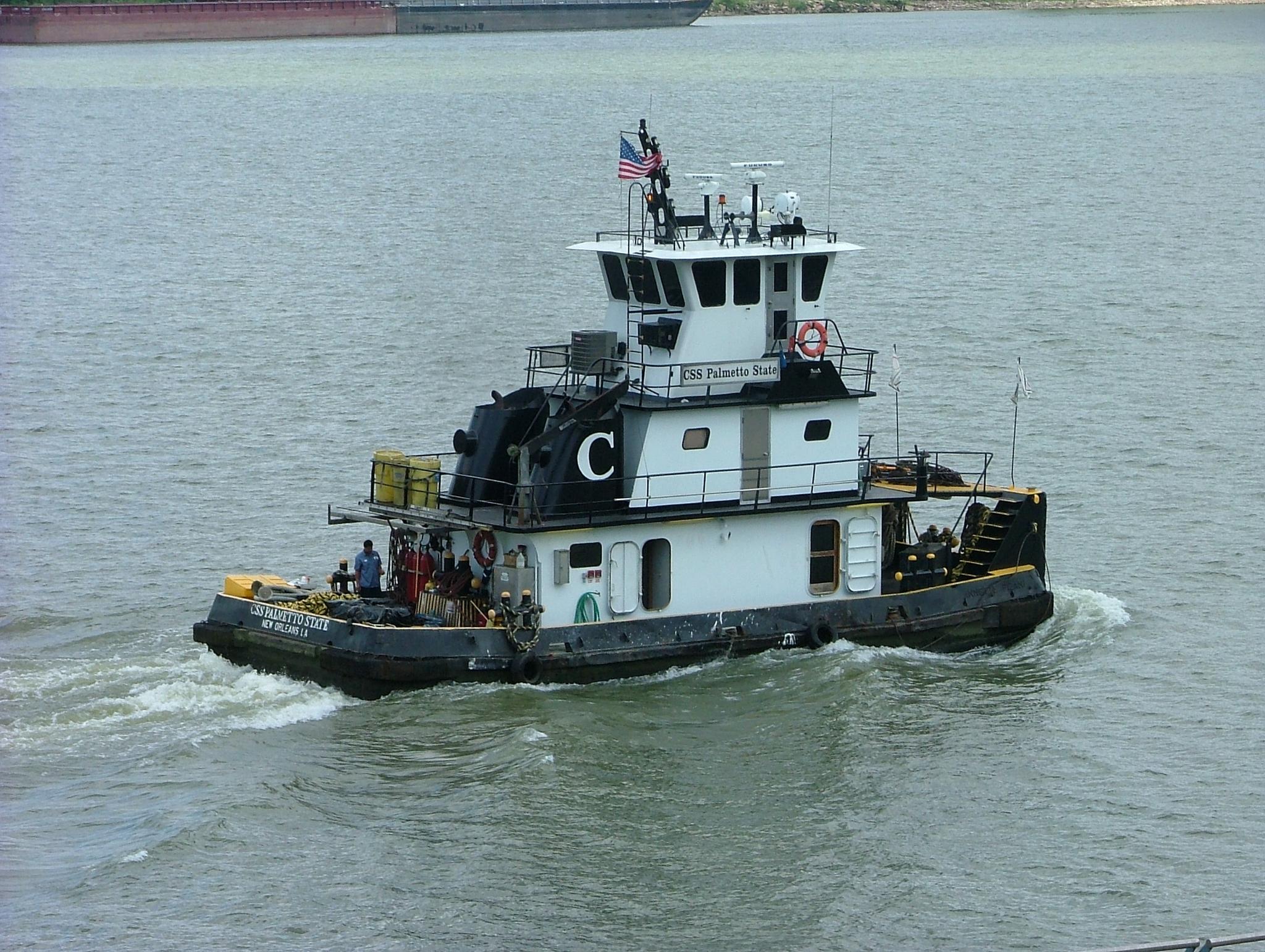 Photo in Travel #new orleans #katrina #tug boat #mississippi