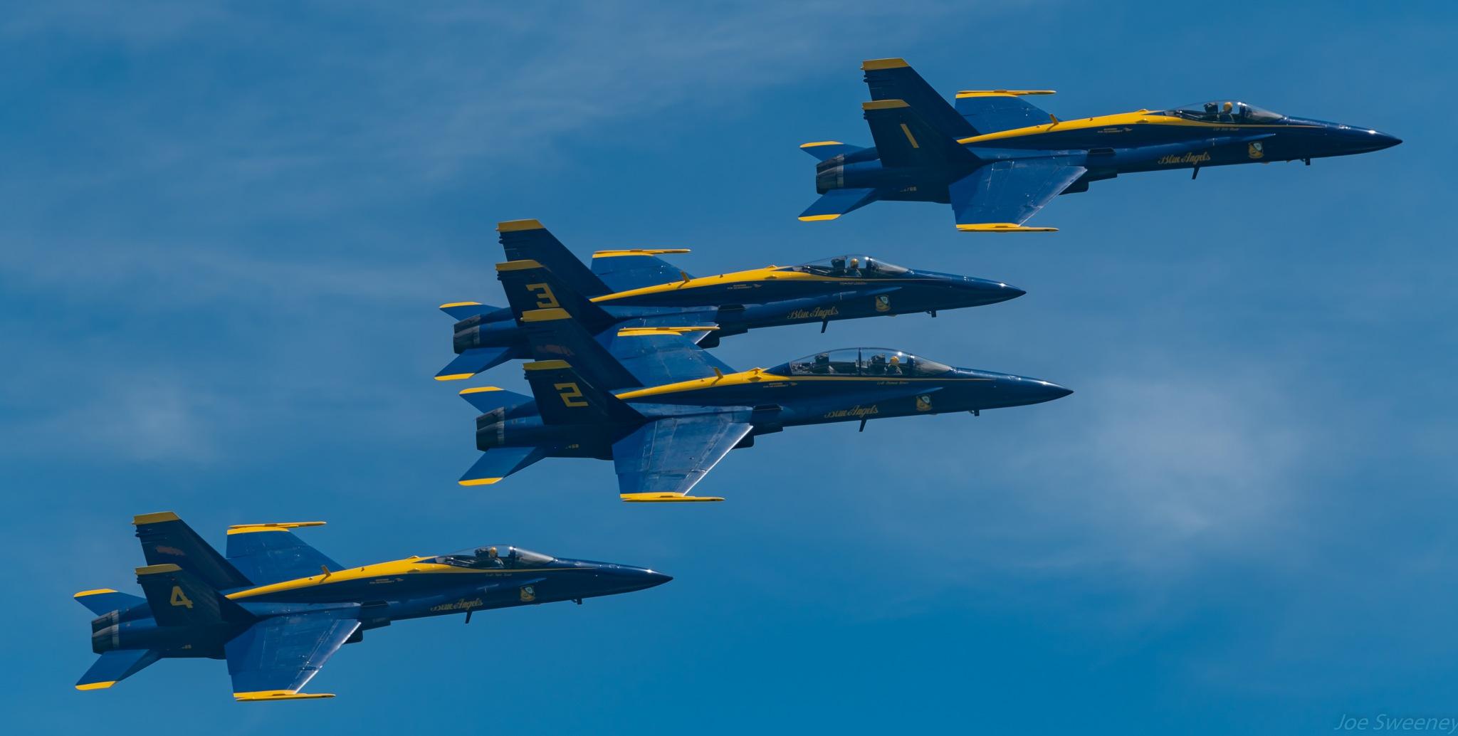 Blue Angels at Pensacola Beach Airshow by Joe Bike