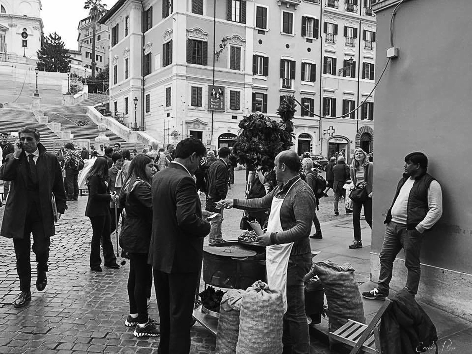 Street in Rome by Emilio Rizzo