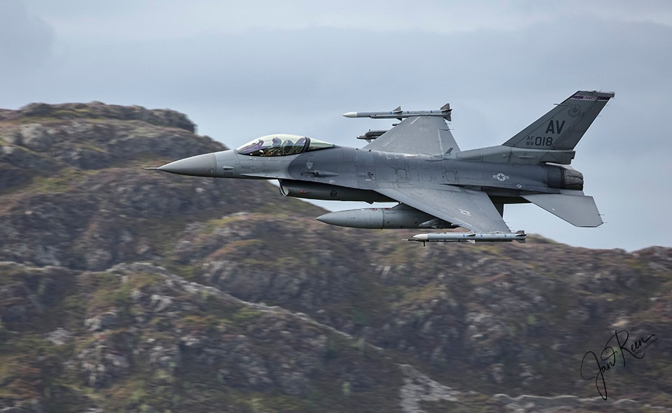 510th FS F16 from Aviano ABF by Jan Reen
