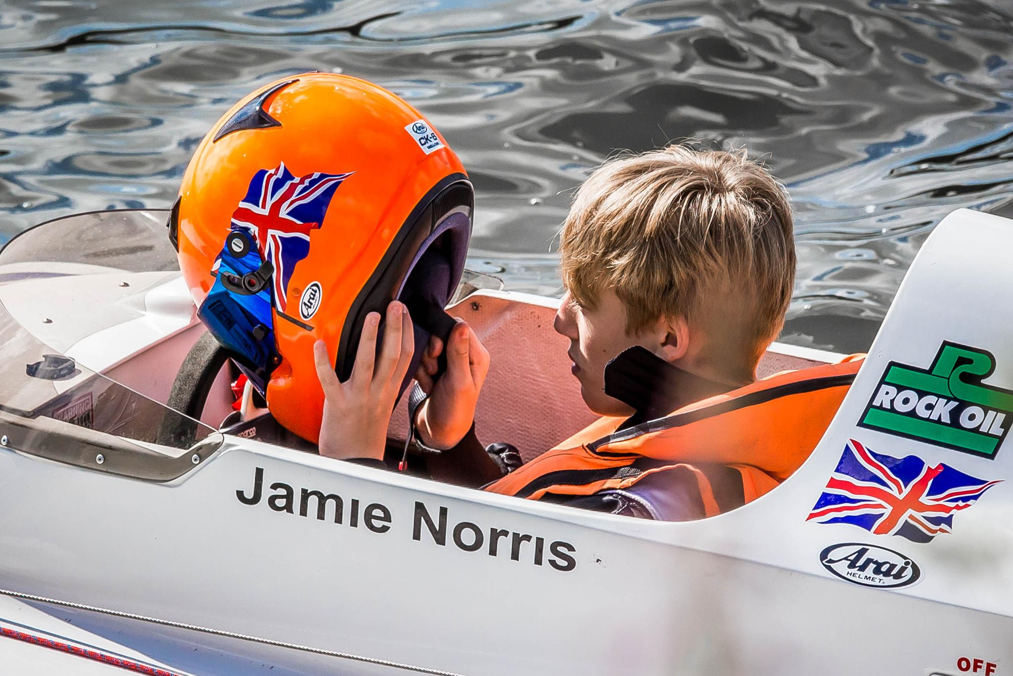 Young Jamie preparing to go. by Vincent Malcolm