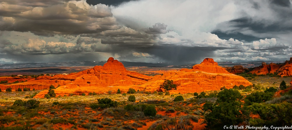 Gathering Storm - Arches National Park by On A Walk Photography