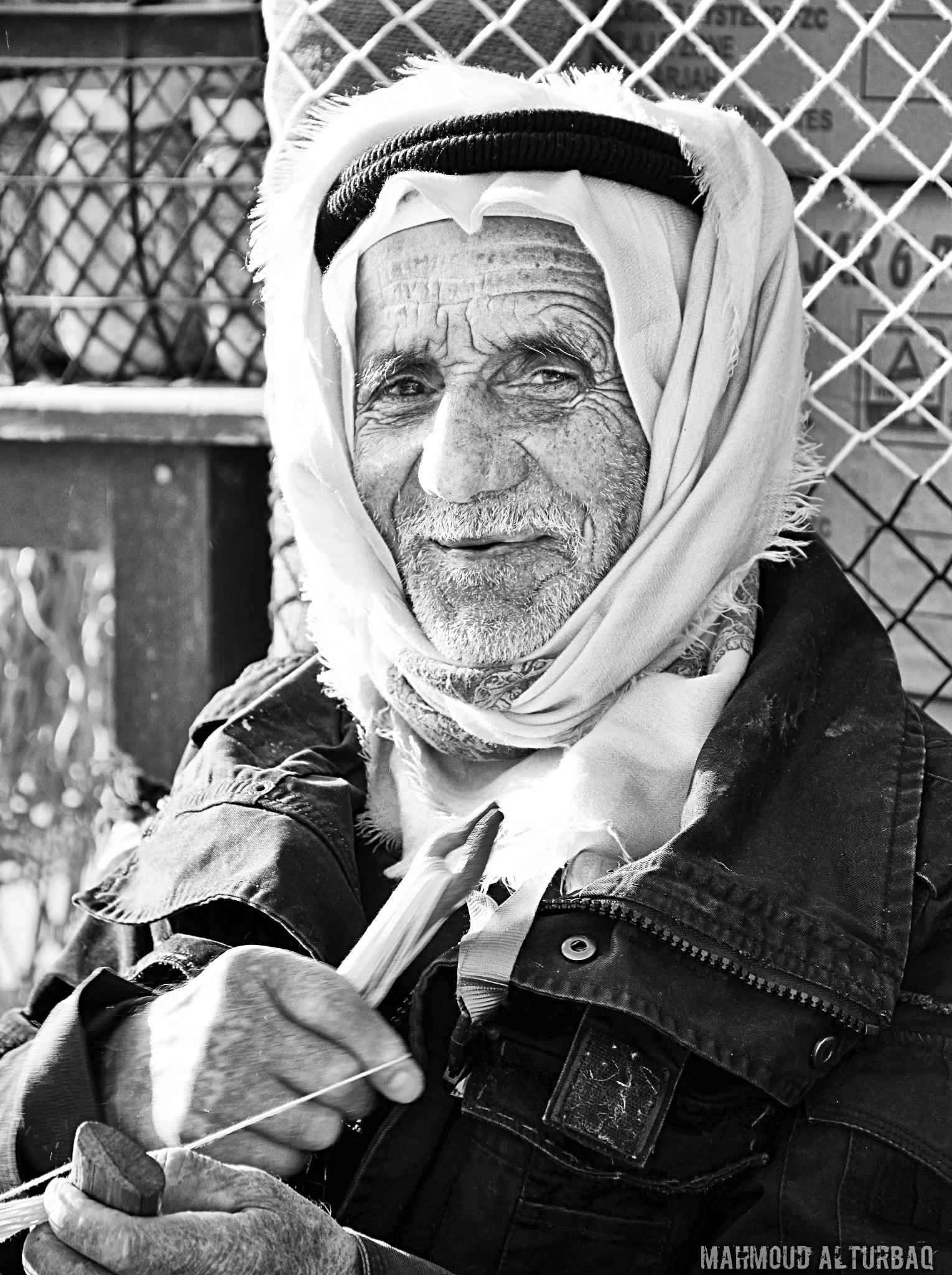 old man portrait  by Mahmoud Alturbaq