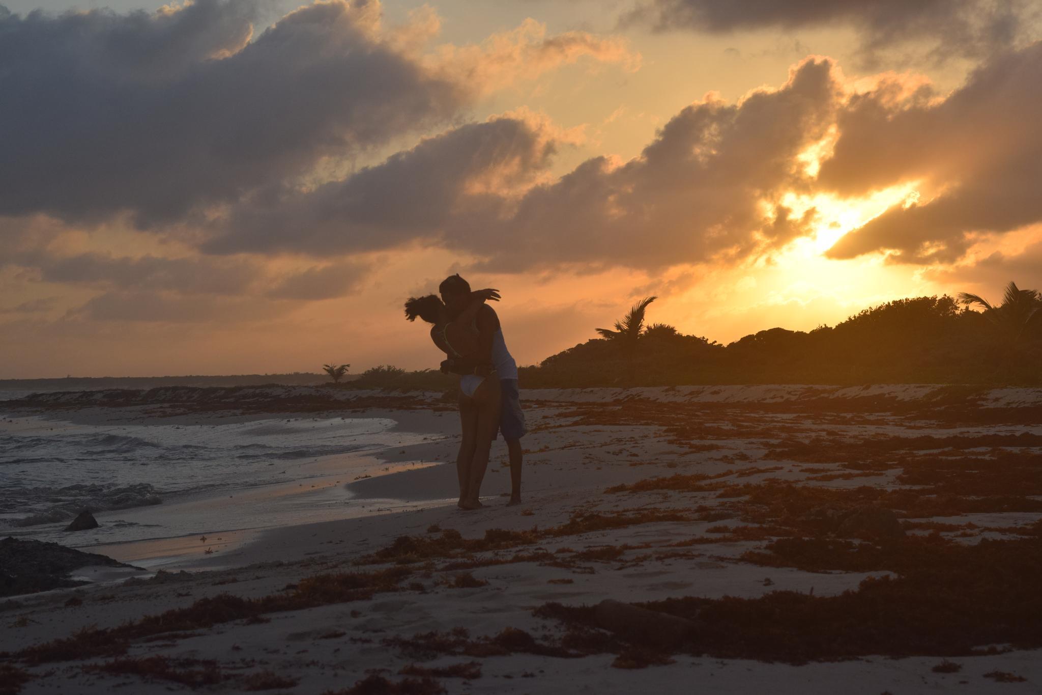 Alone on the Beach by Bailey Rachelle