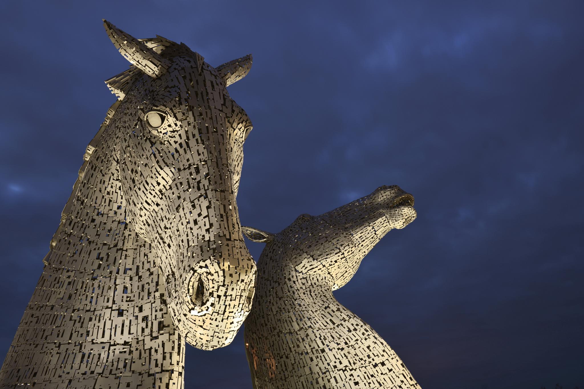 The Kelpies by Andy Scott, Falkirk, Scotland by Ann