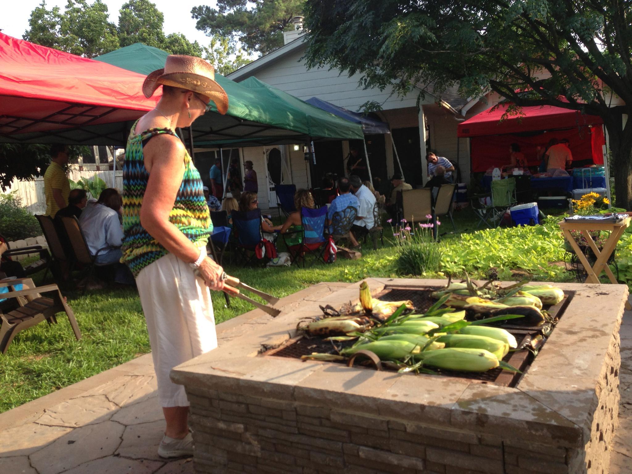 roasting corn by SAMoore