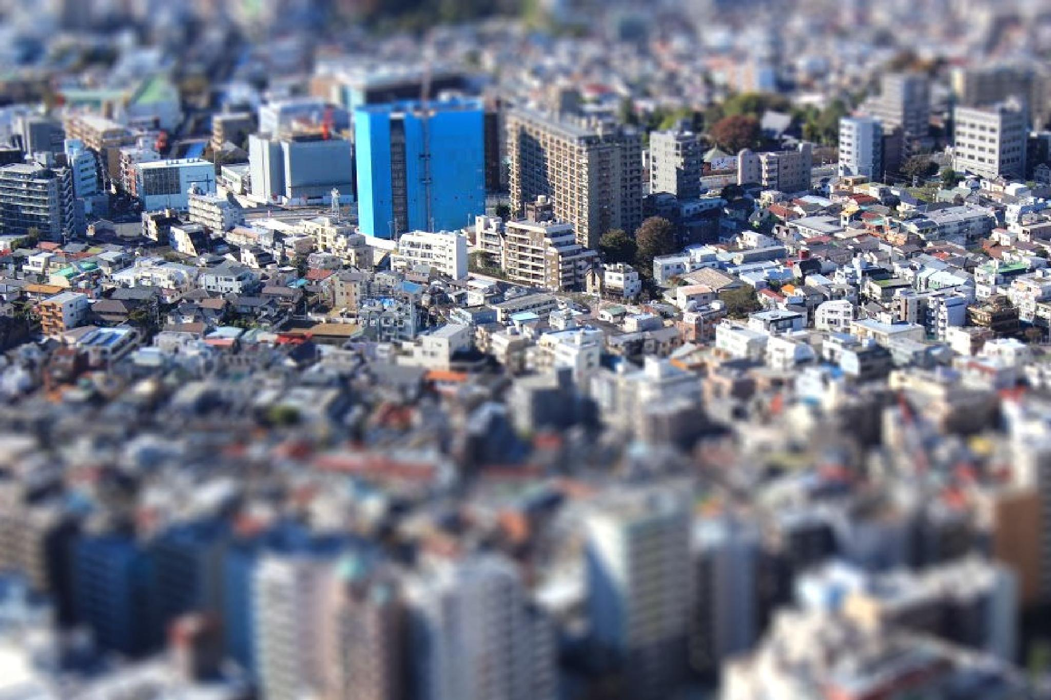 Shinjuku tiltshift by Ben Gagné