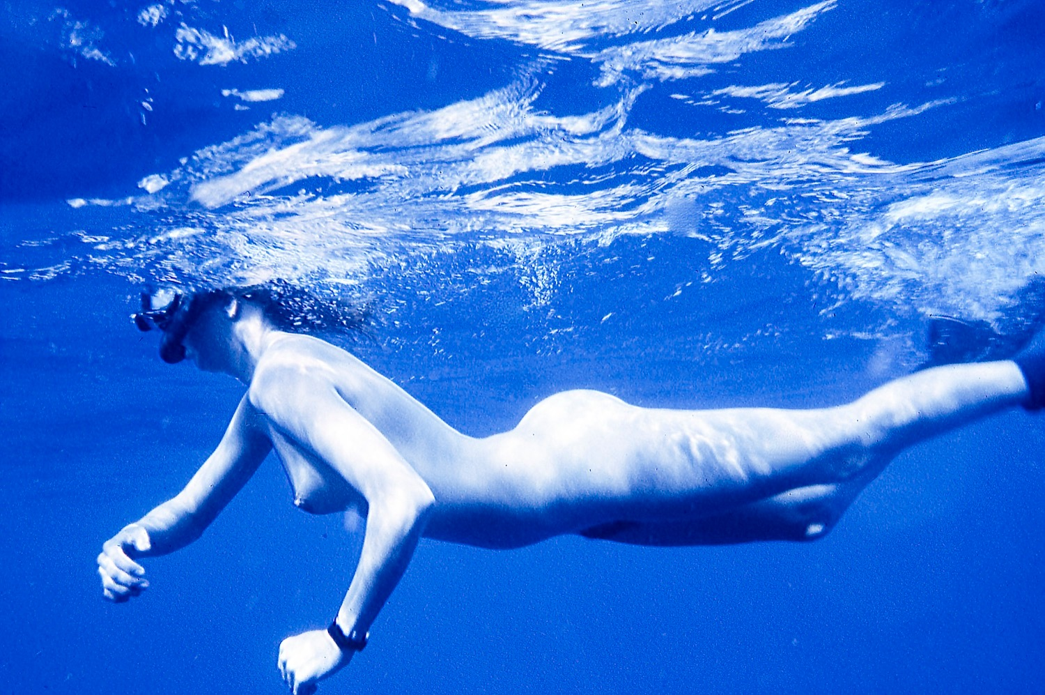 Nude in blue by Robert Hayes