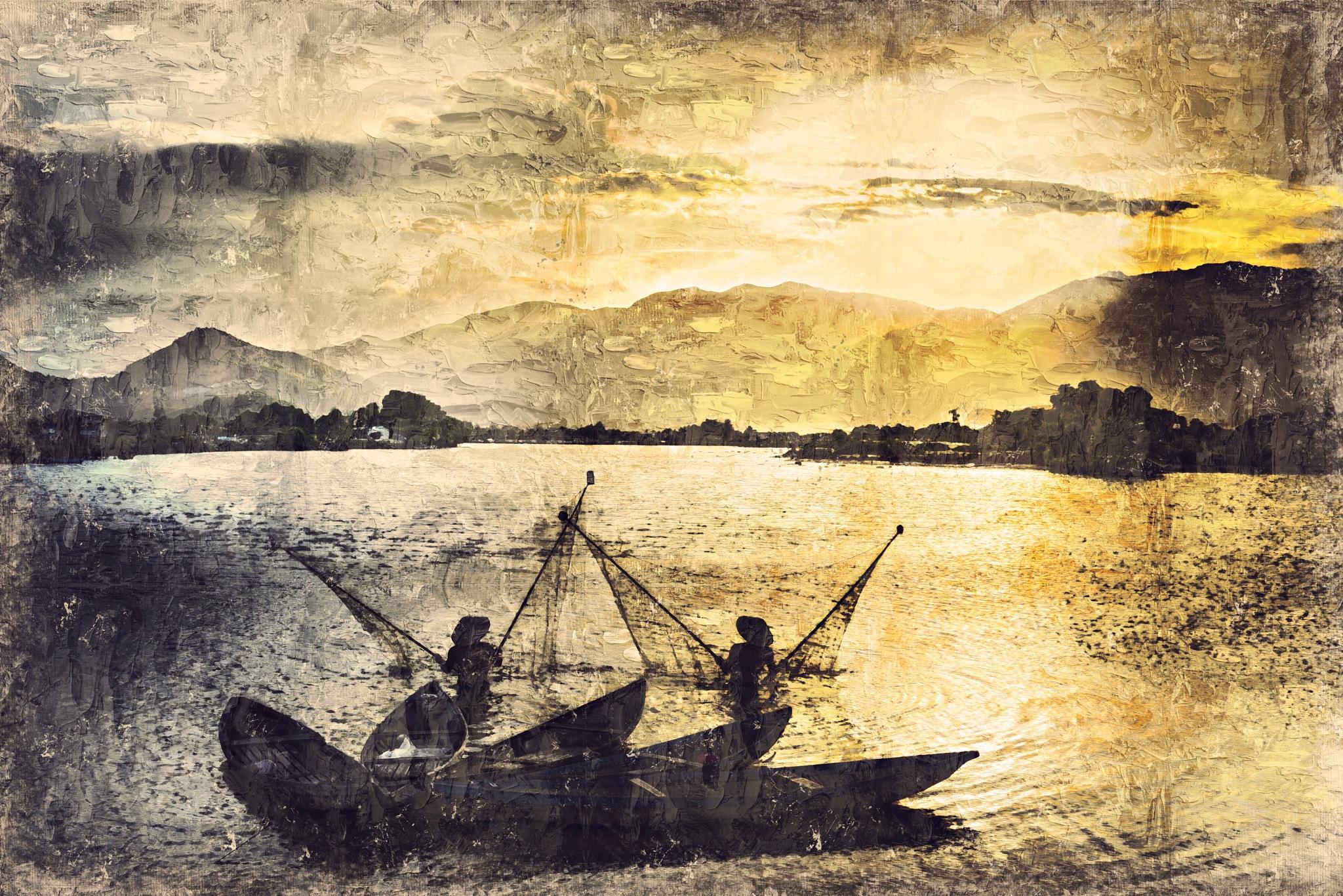 Fisher Men by Art Tower Brigitte Werner