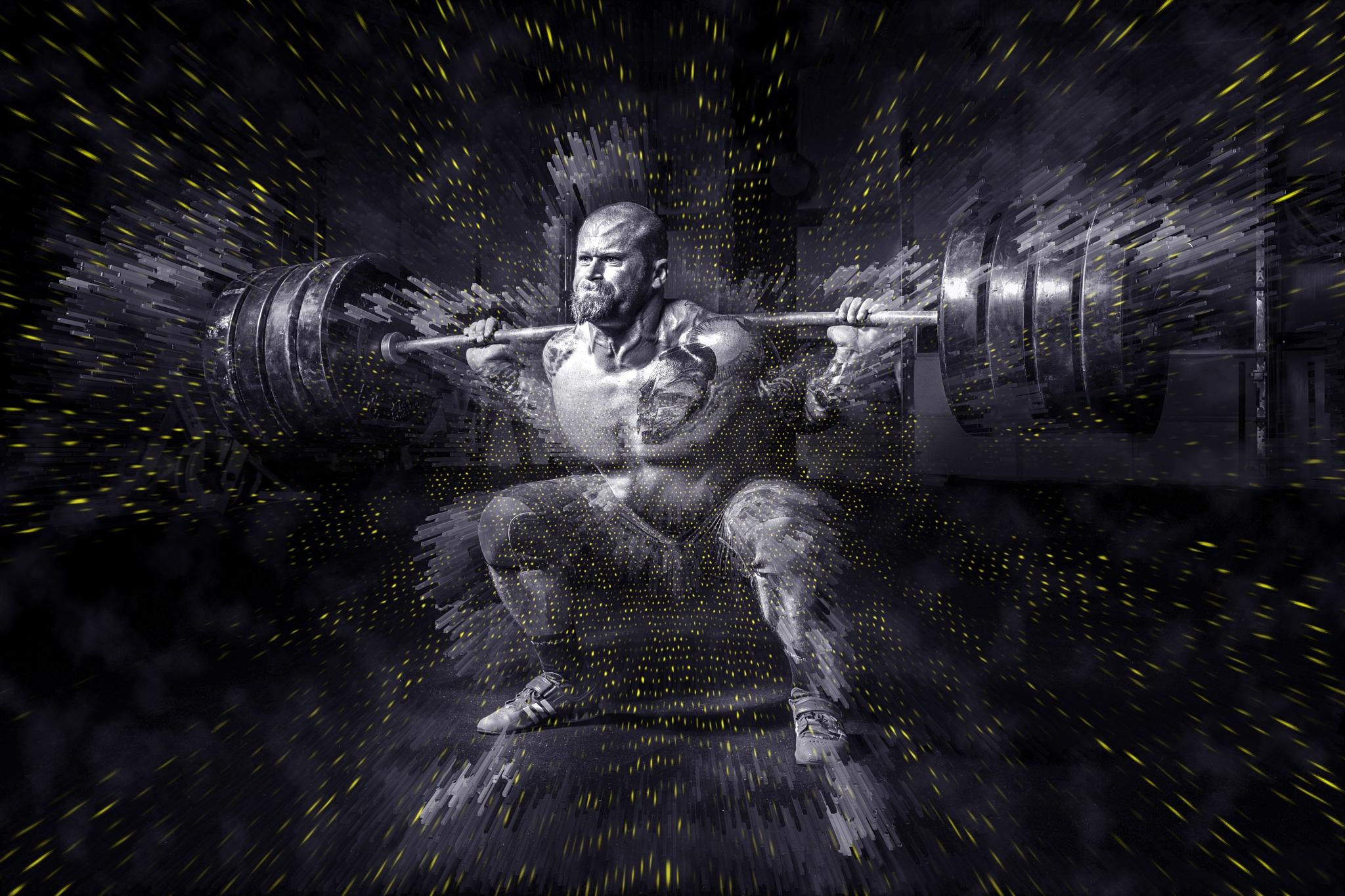 Weightlifter by Brigitte Werner