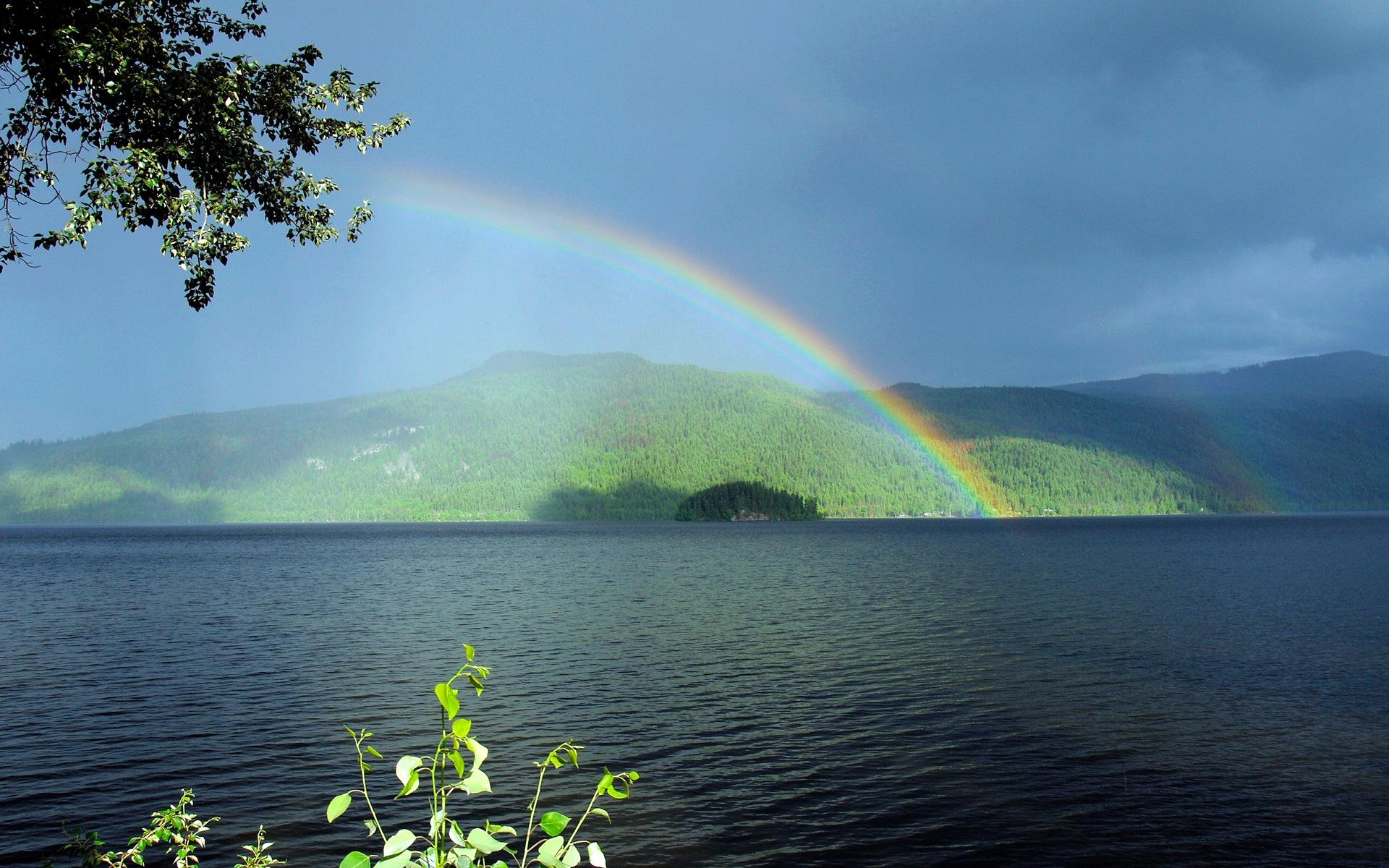 Rainbow at Canim Lake by Brigitte Werner