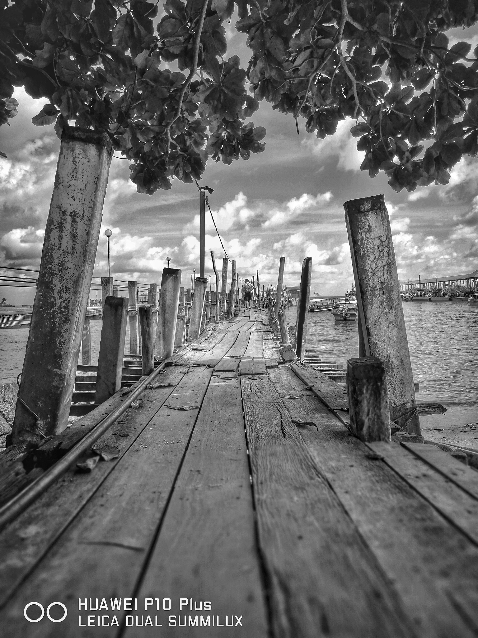 Walking on the pier by Michael Lee